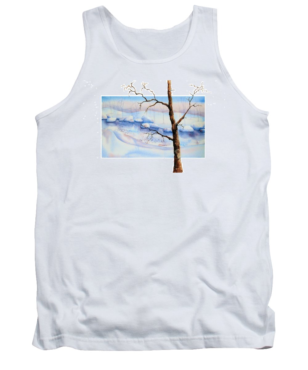 Tree Tank Top featuring the painting A Tree In Another Dimension by Debbie Lewis