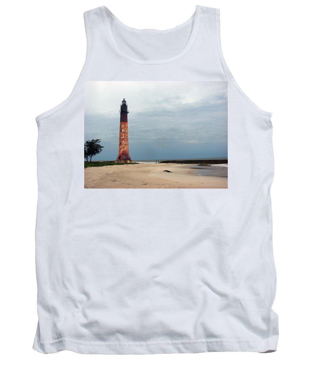 Port Tank Top featuring the photograph Abandon Lighthouse by Brett Winn