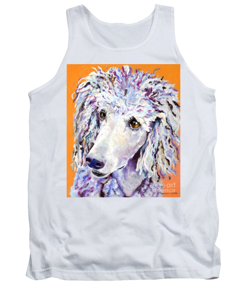 Standard Poodle Tank Top featuring the pastel Above The Standard  by Pat Saunders-White