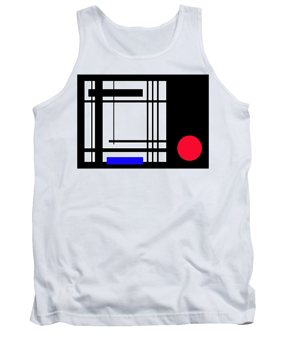 Abstract Tank Top featuring the digital art Abstract 160213 by James Pinkerton