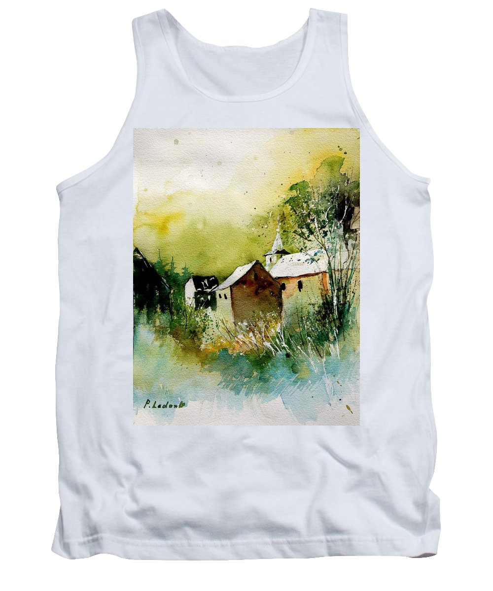 Village Tank Top featuring the painting Abstract 260608 by Pol Ledent