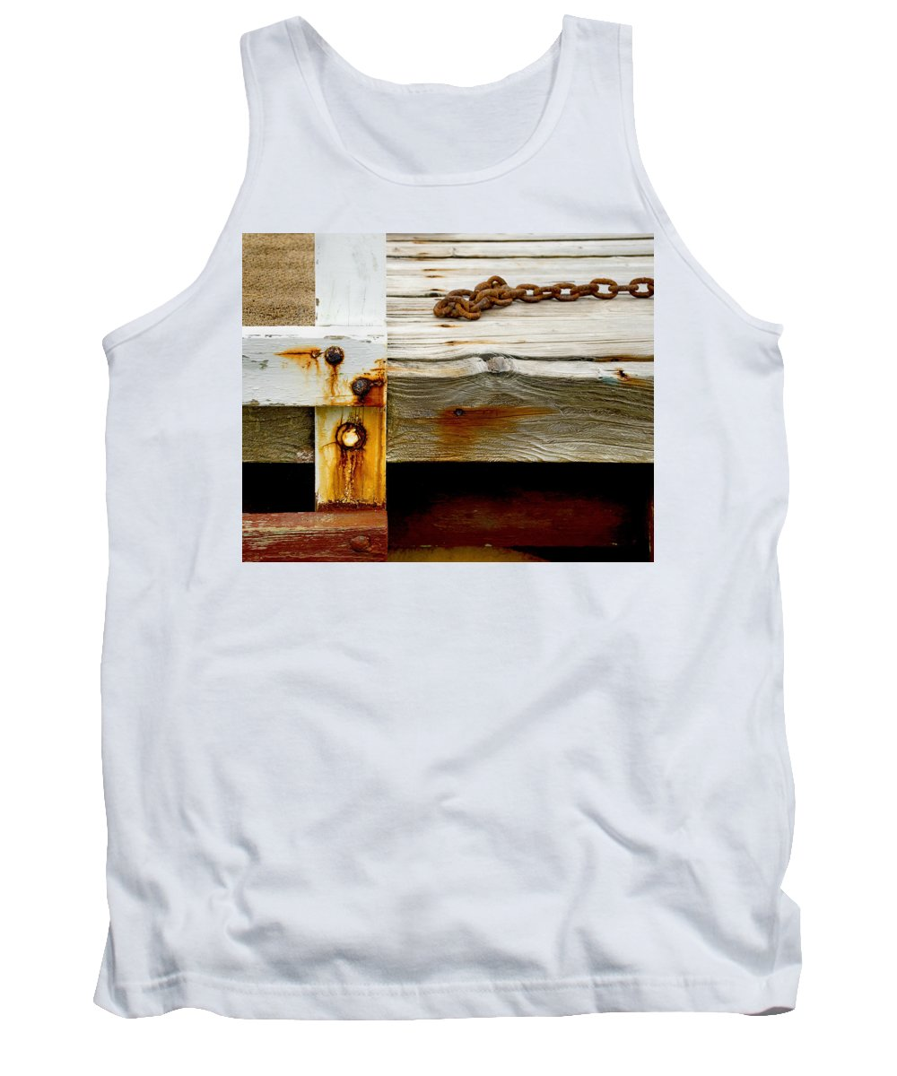 Abstract Tank Top featuring the photograph Abstract Dock by Charles Harden