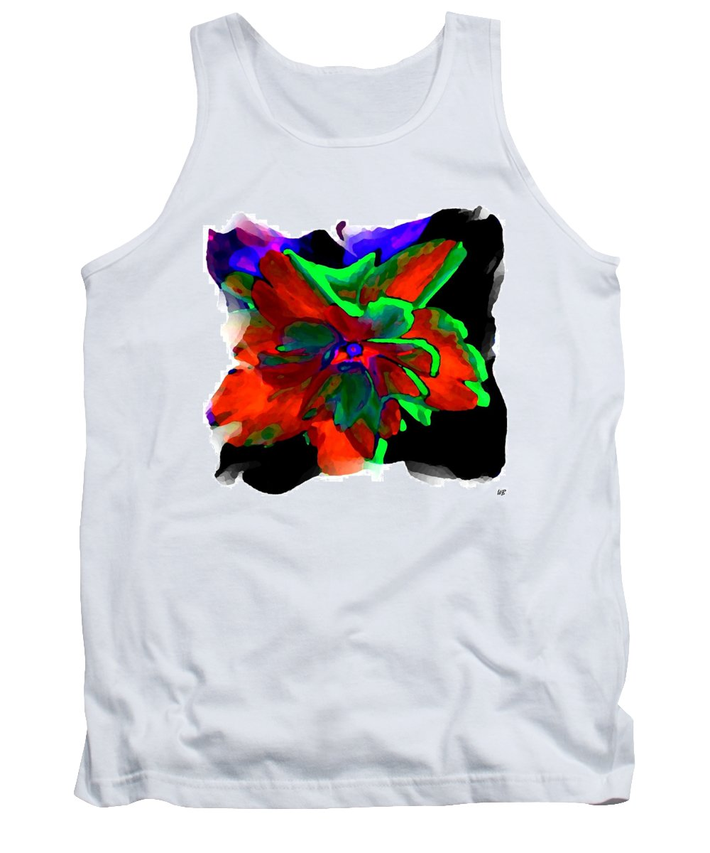 Abstract Tank Top featuring the digital art Abstract Elegance by Will Borden