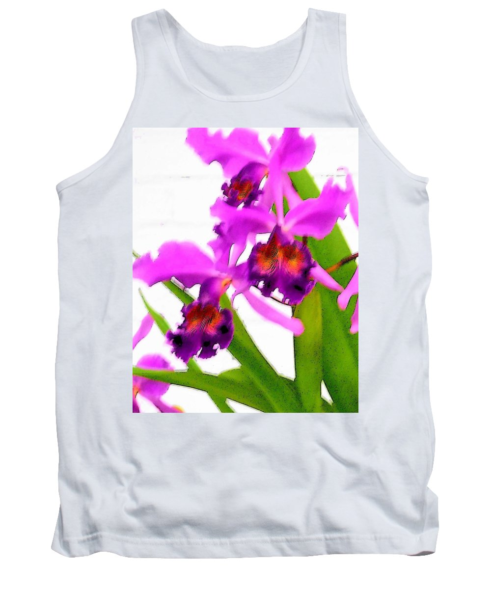 Flowers Tank Top featuring the digital art Abstract Iris by Anita Burgermeister