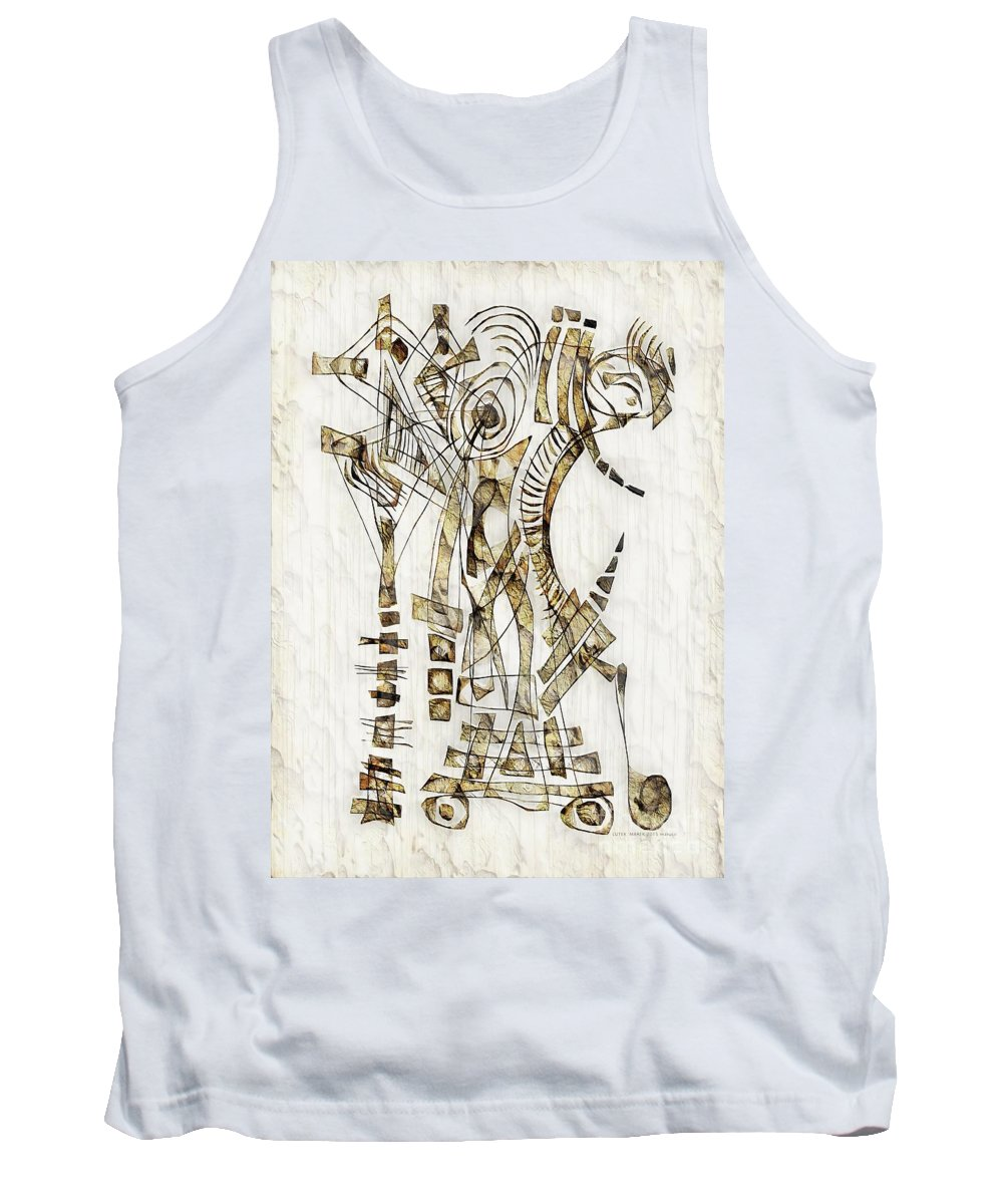 Abstraction Tank Top featuring the digital art Abstraction 2563 by Marek Lutek