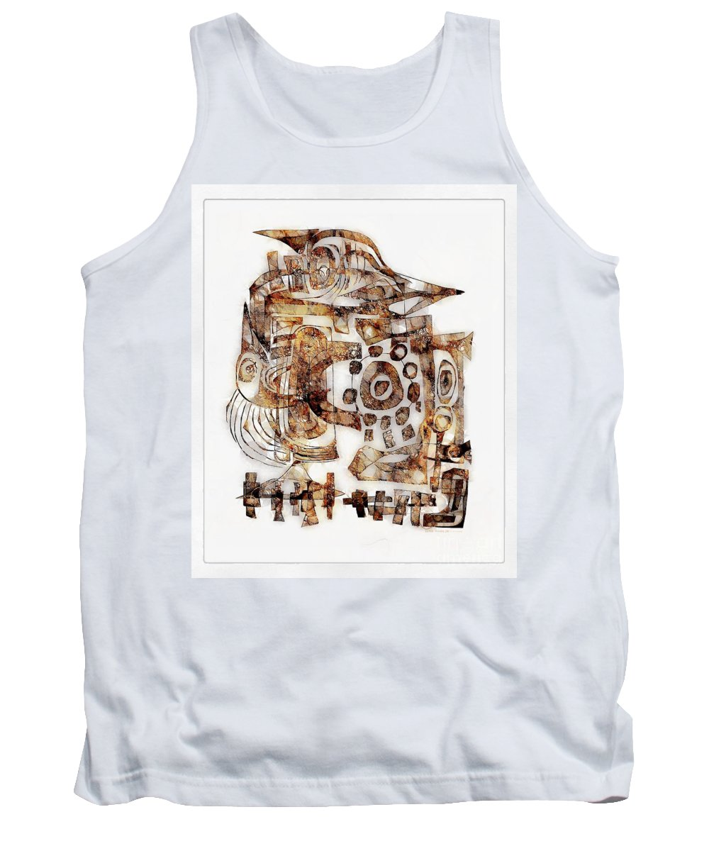 Abstraction Tank Top featuring the digital art Abstraction 3053 by Marek Lutek