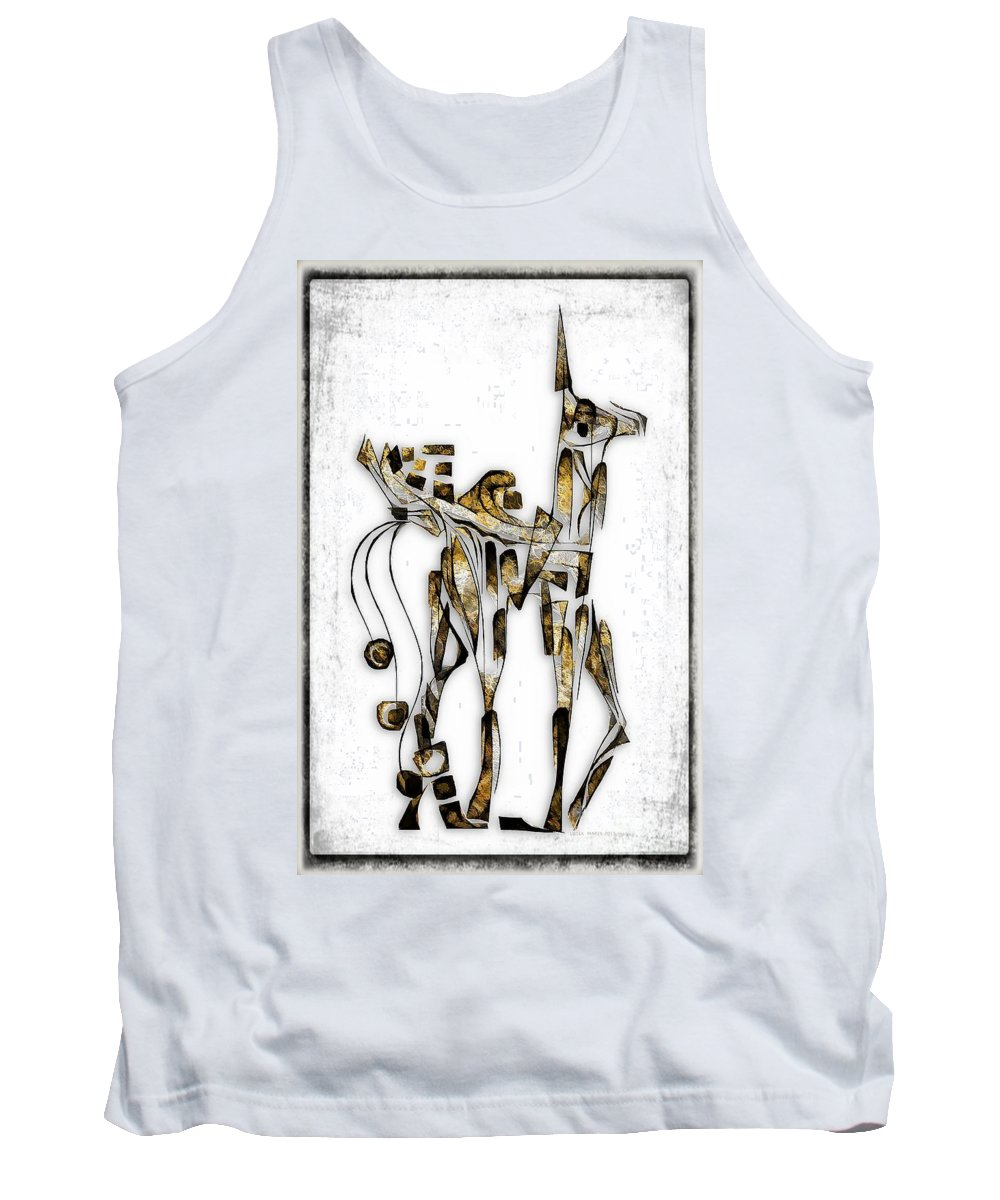 Abstraction Tank Top featuring the digital art Abstraction 3091 by Marek Lutek