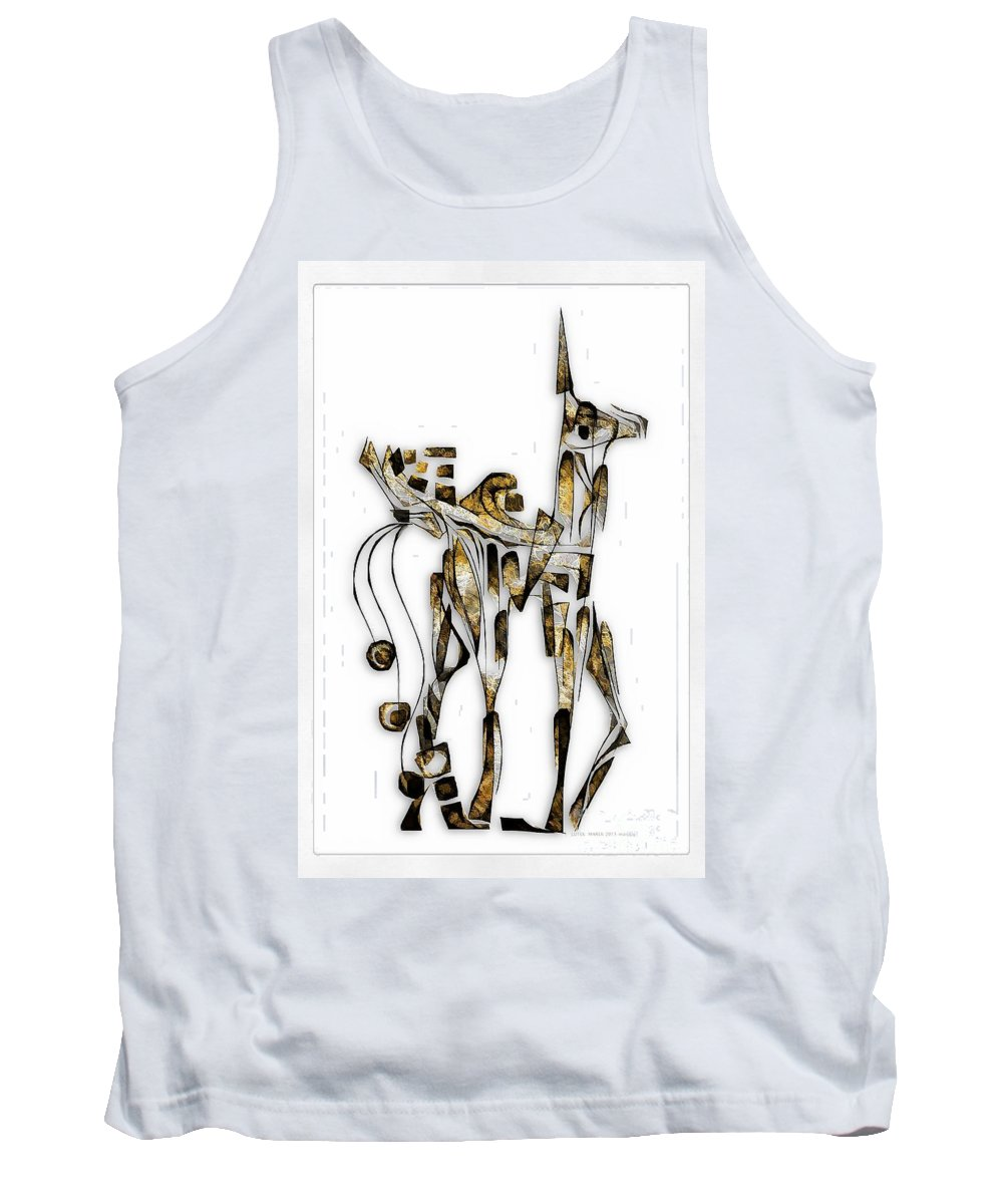 Abstraction Tank Top featuring the digital art Abstraction 3092 by Marek Lutek