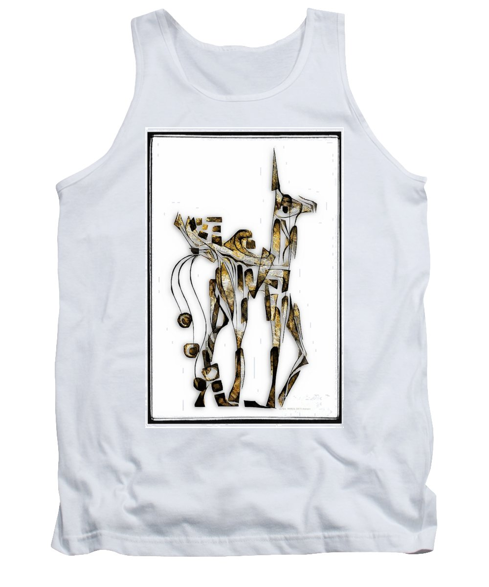 Abstraction Tank Top featuring the digital art Abstraction 3093 by Marek Lutek