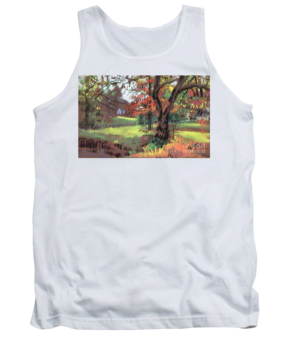 Pastel Tank Top featuring the painting Across the Creek II by Donald Maier