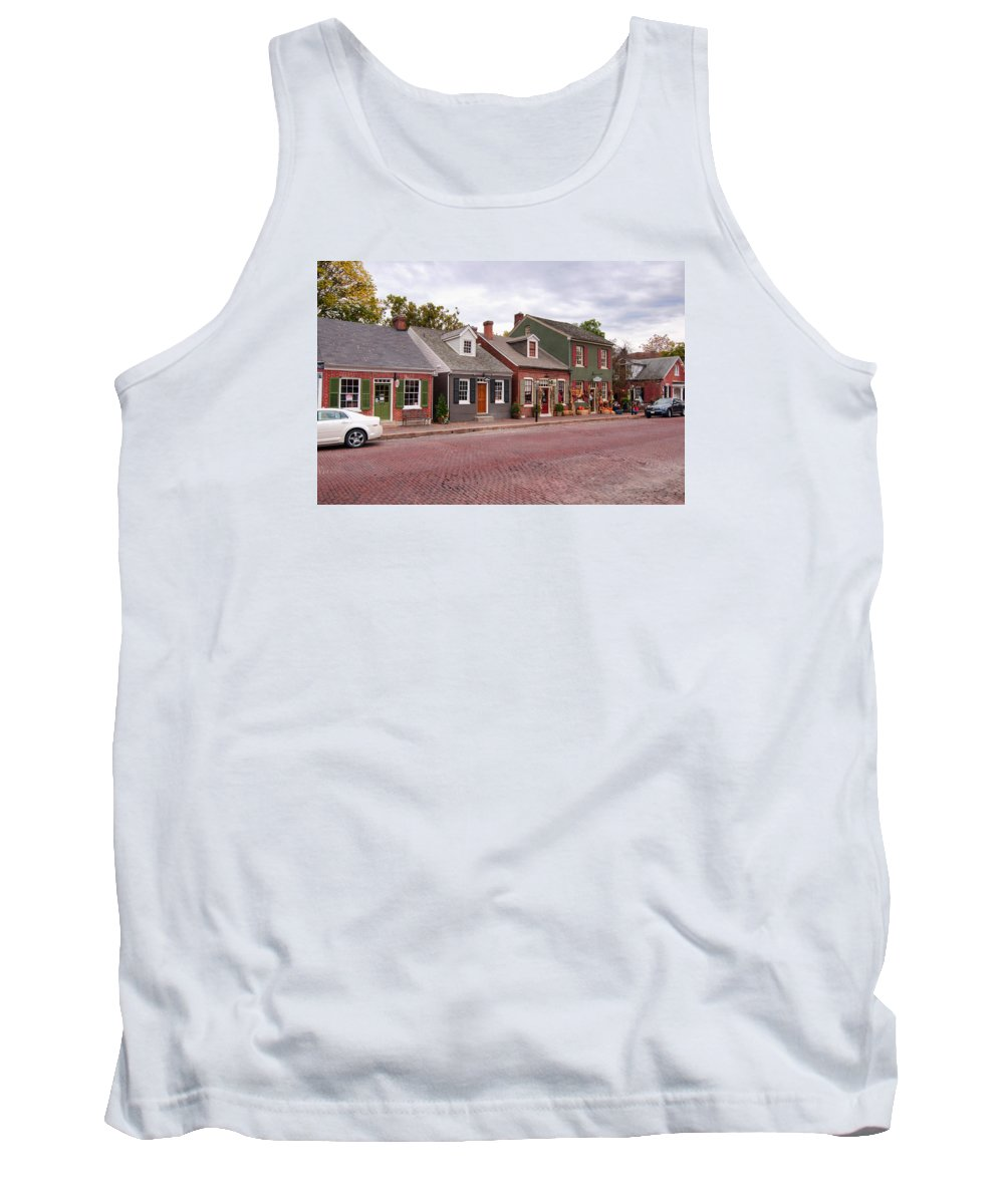 Autumn Tank Top featuring the photograph Across The Street by Steve Stuller