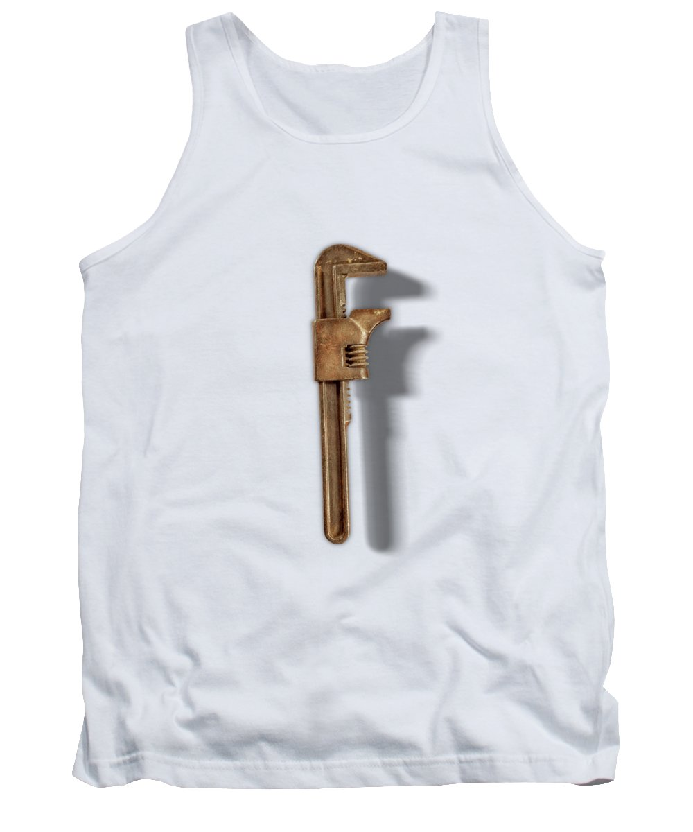 Antique Tank Top featuring the photograph Adjustable Wrench Back on Color Paper by YoPedro