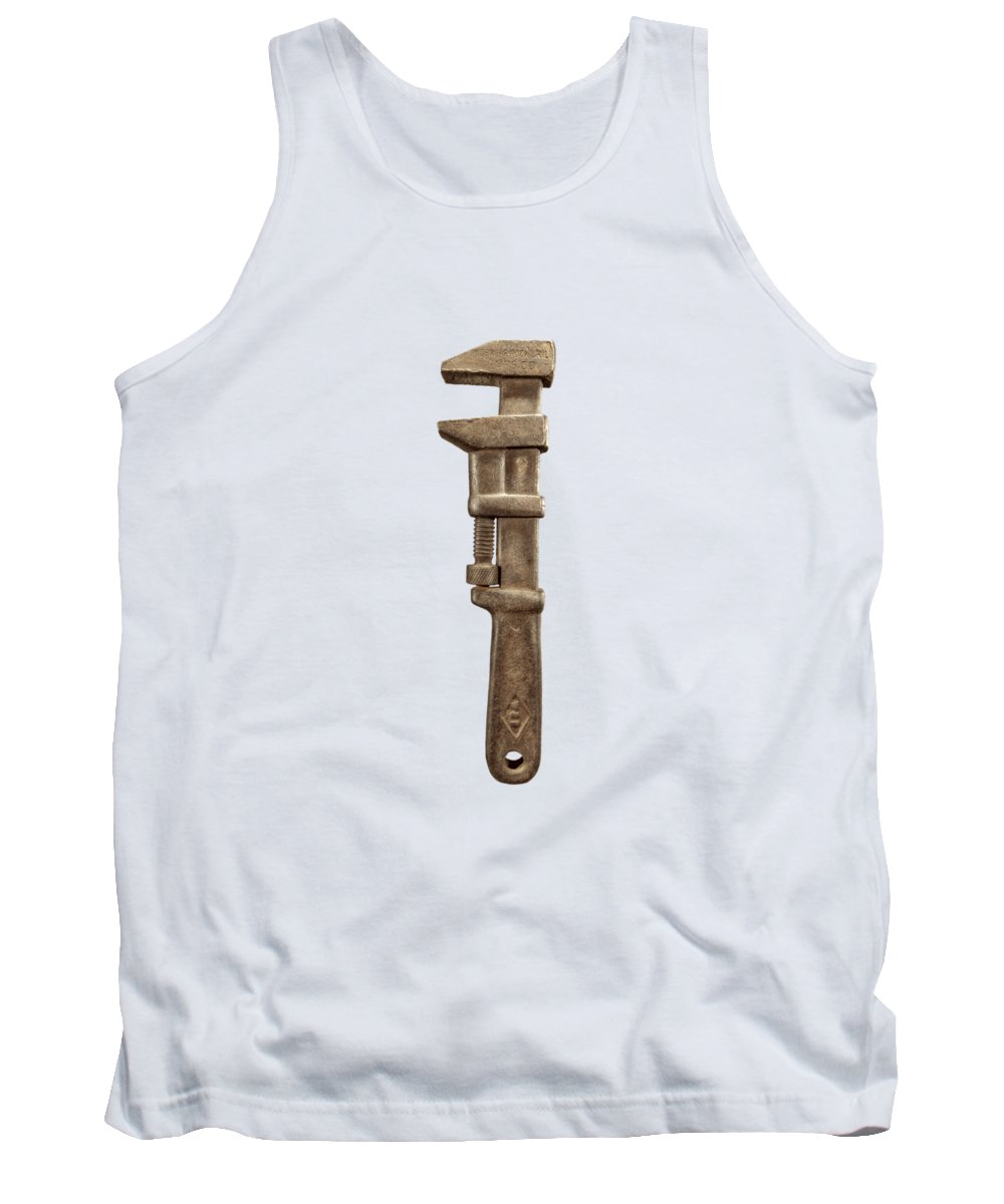 Antique Tank Top featuring the photograph Adjustable Wrench Left Face by YoPedro