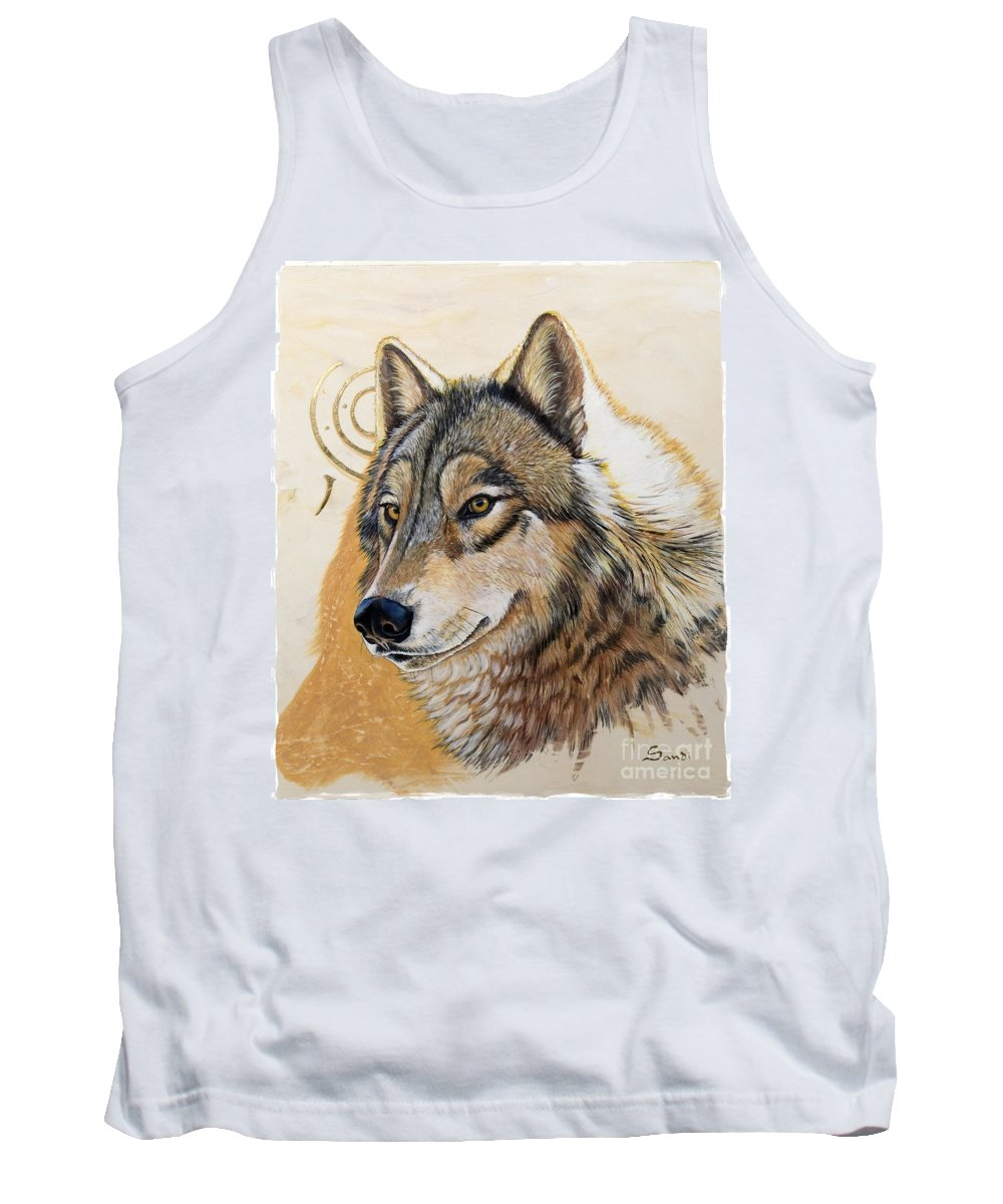 Acrylics Tank Top featuring the painting Adobe Gold by Sandi Baker