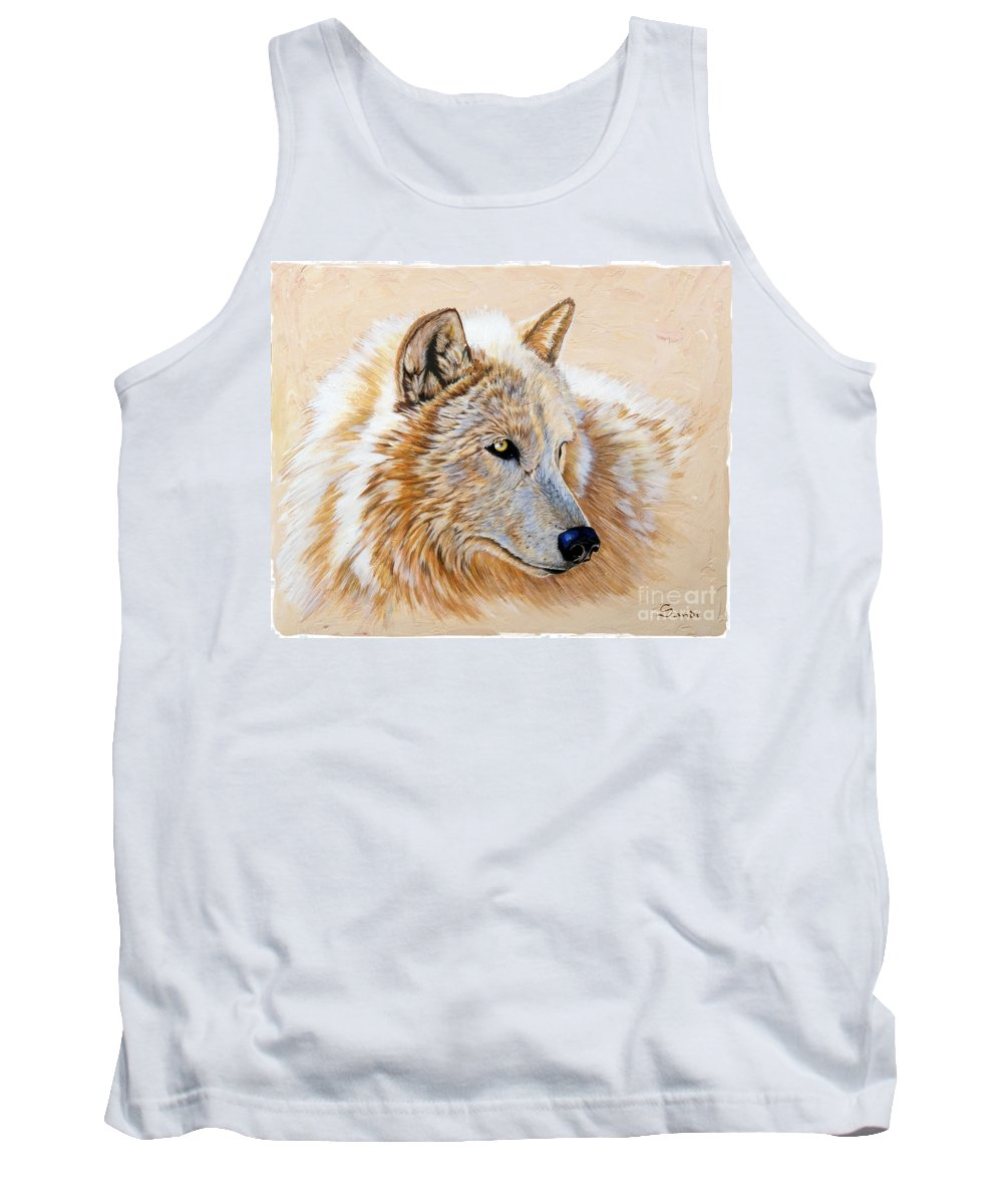Acrylic Tank Top featuring the painting Adobe White by Sandi Baker