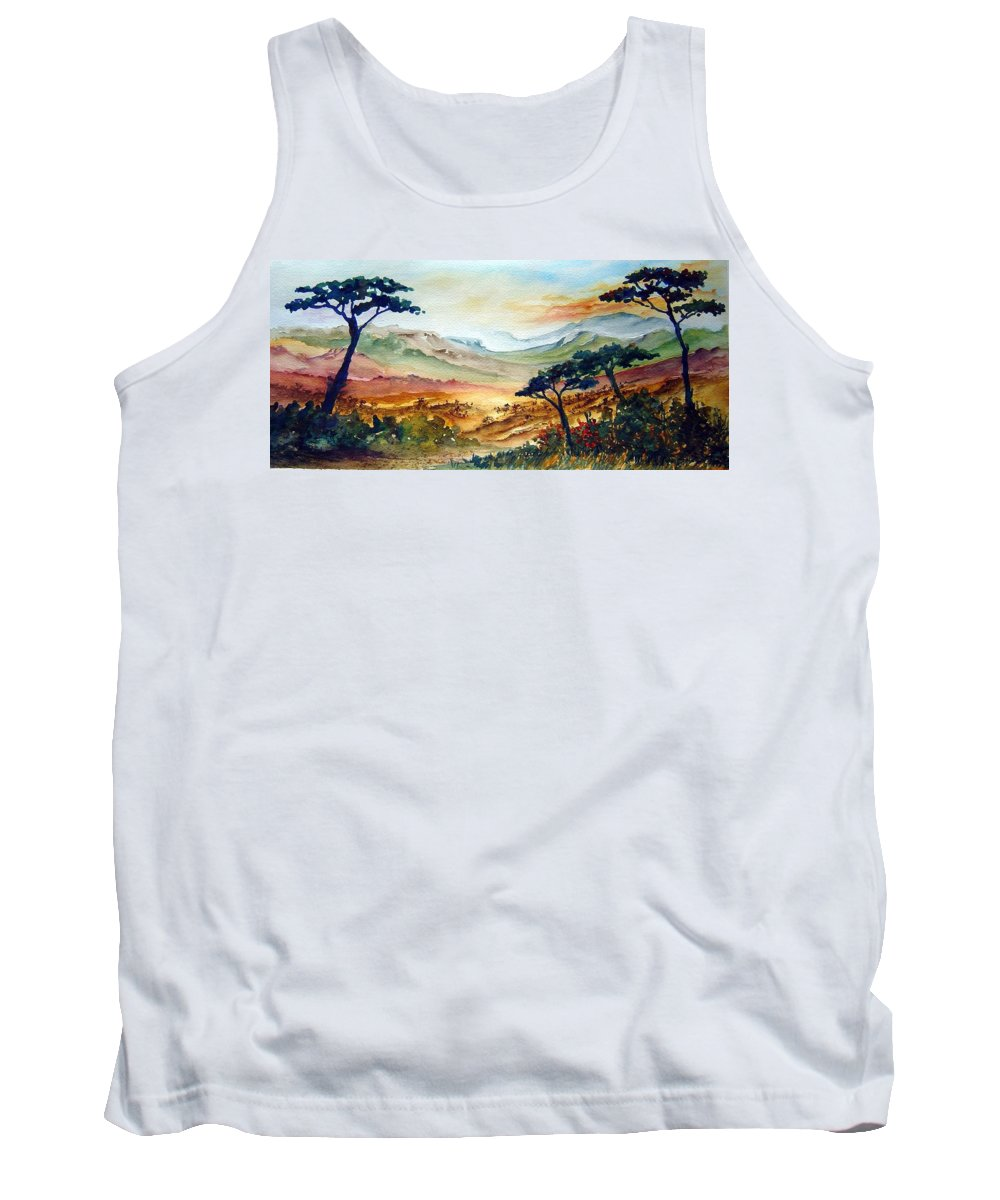 Africa Tank Top featuring the painting Africa by Joanne Smoley