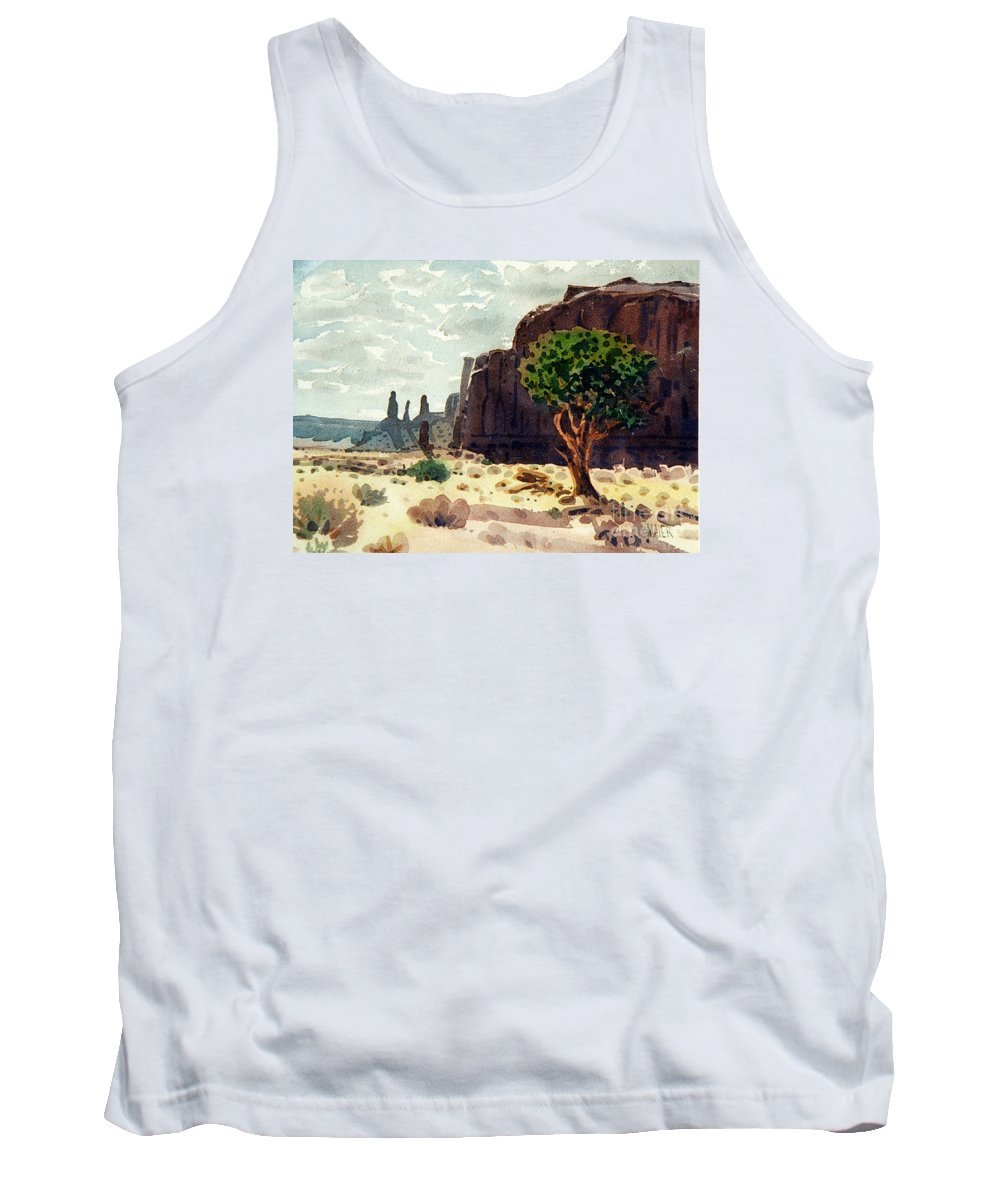 Three Sisters Tank Top featuring the painting Afternoon View by Donald Maier