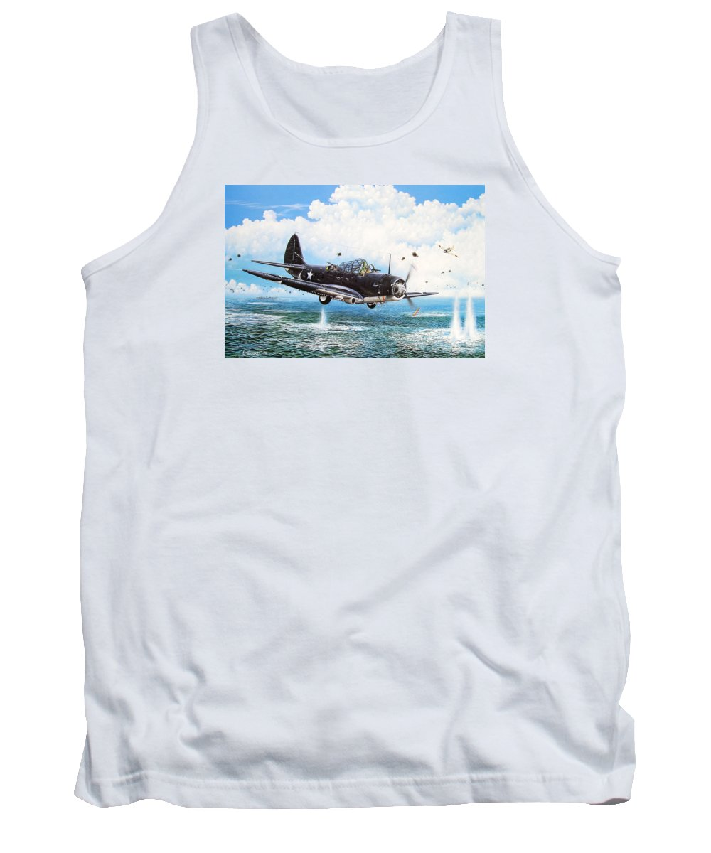 Military Tank Top featuring the painting Against The Odds by Marc Stewart