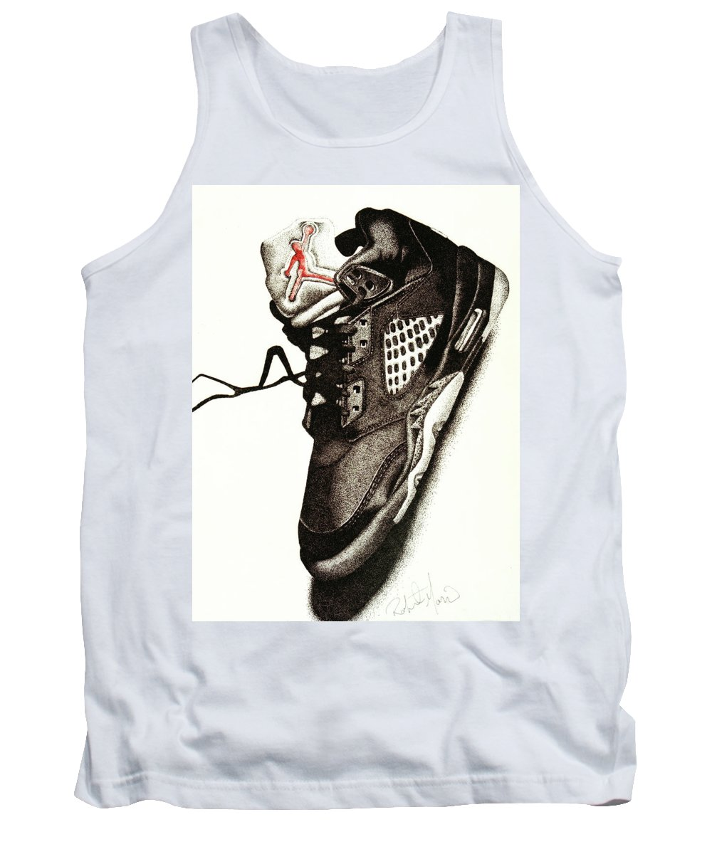1206fe8a1c8 Shoes Tank Top featuring the drawing Air Jordan by Robert Morin