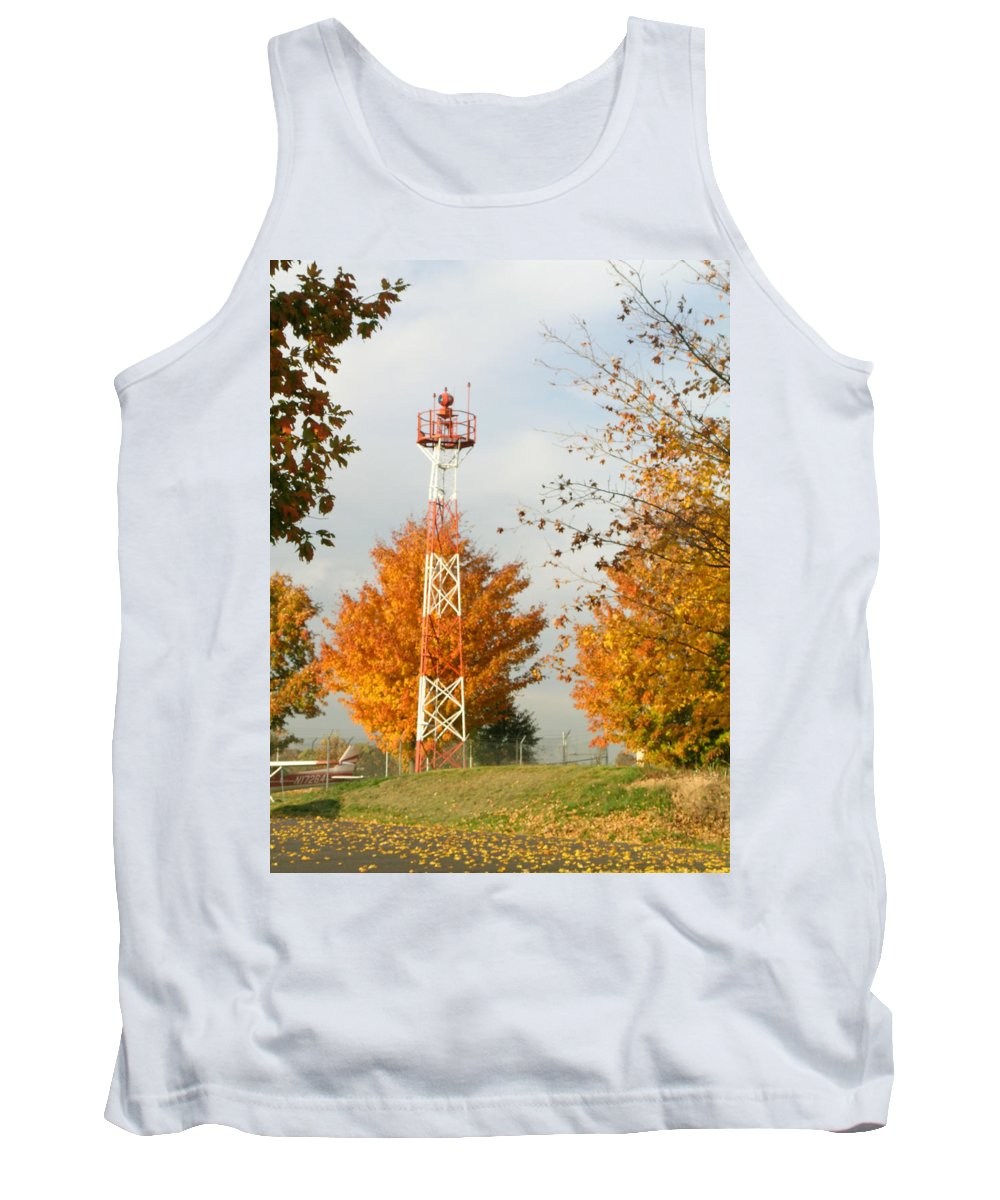 Airport Tank Top featuring the photograph Airport Tower by Douglas Barnett
