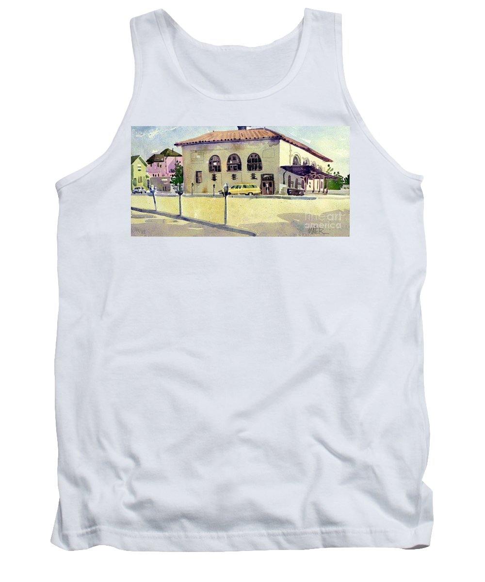 Us Post Office Tank Top featuring the painting Alameda Post Office by Donald Maier