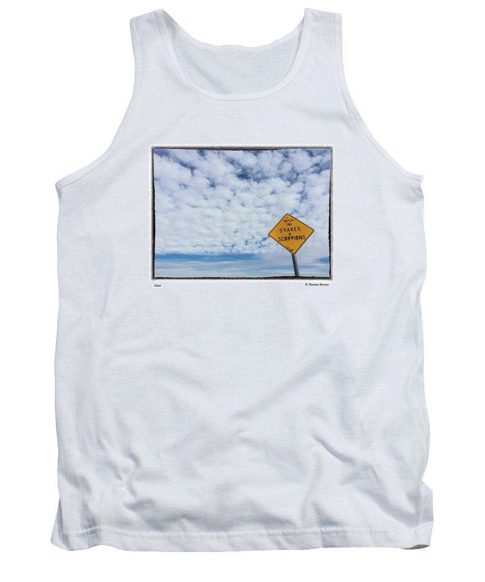 Snacks Tank Top featuring the photograph Alert by R Thomas Berner