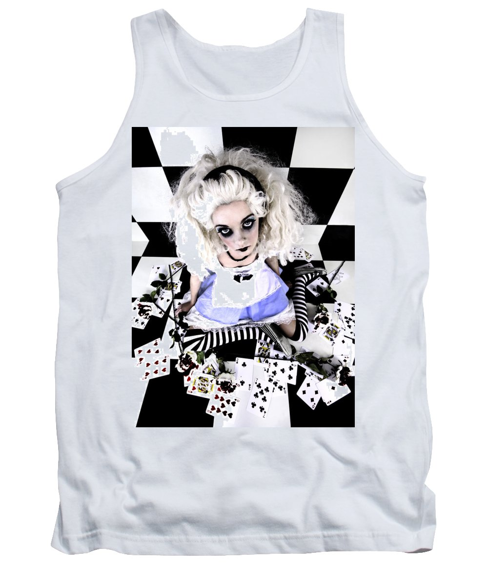 Alice In Wonderland Tank Top featuring the photograph Alice1 by Kelly Jade King