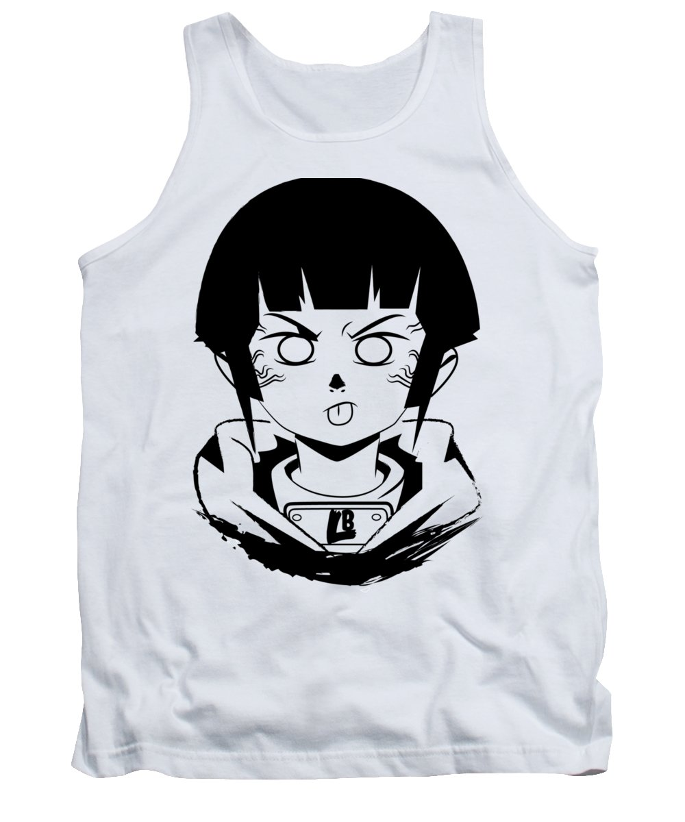 Lewd Behavior Tank Top featuring the digital art All Eyes On Me by Alex Blur