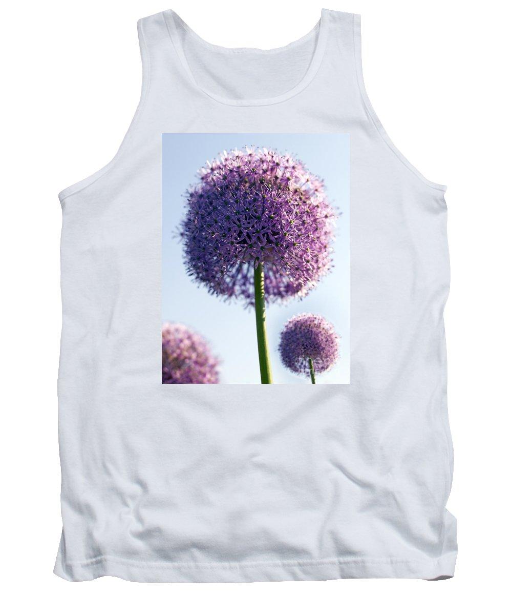 Allium Tank Top featuring the photograph Allium Flower by Tony Cordoza