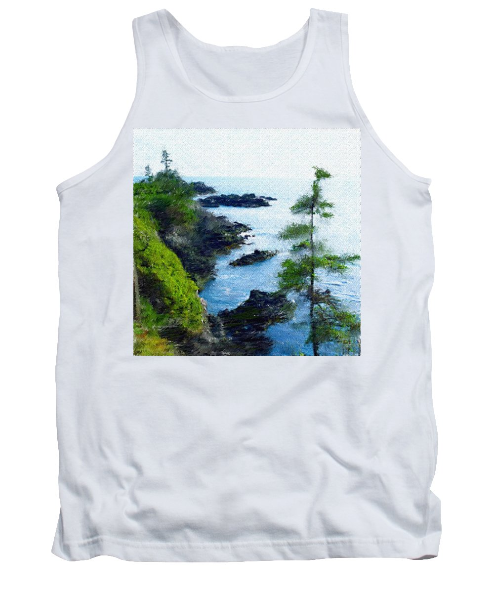 Digital Photograph Tank Top featuring the photograph Along The West Coast 1 by David Lane