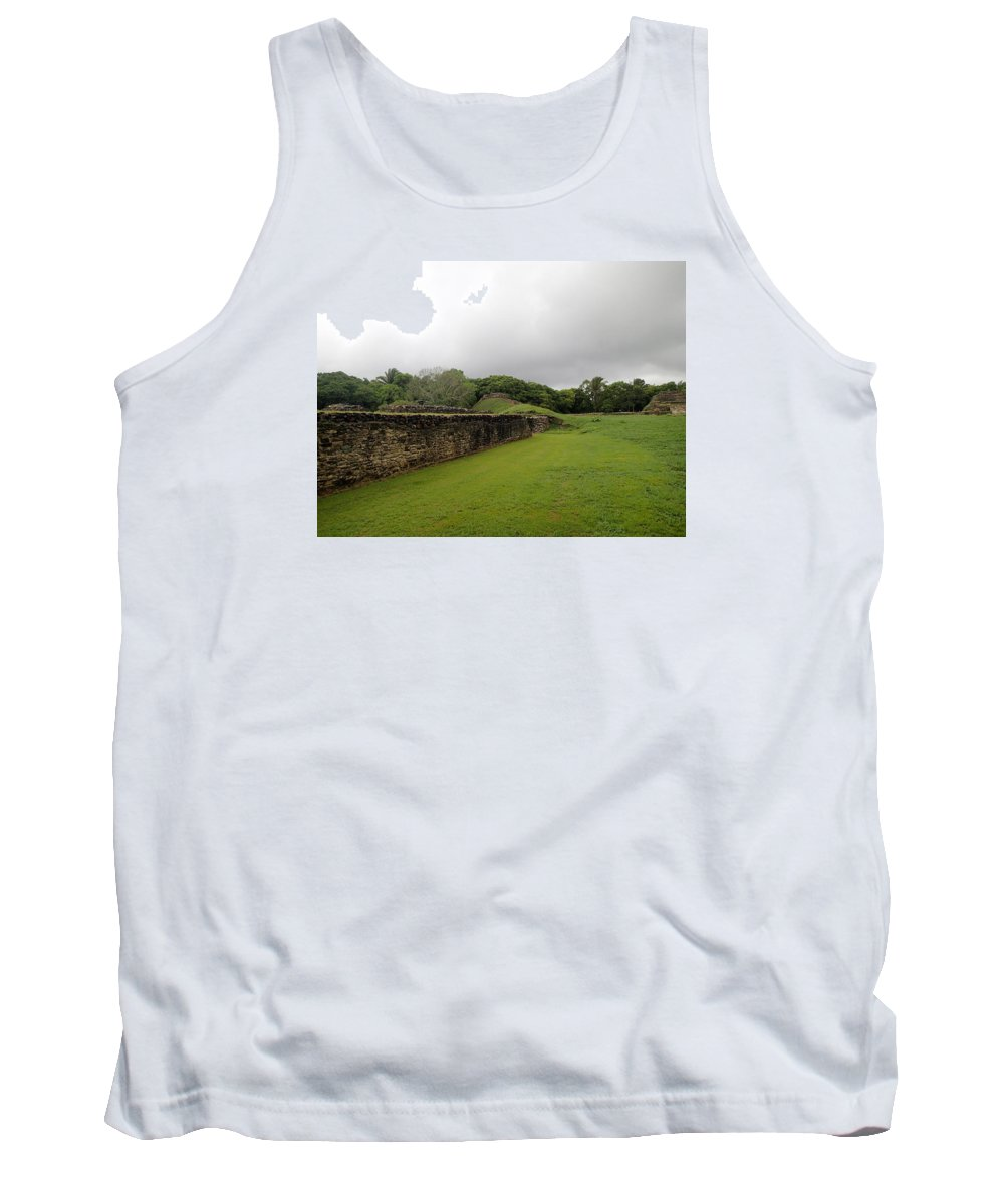 Ruins Tank Top featuring the photograph Altun Ha #1 by Lois Lepisto