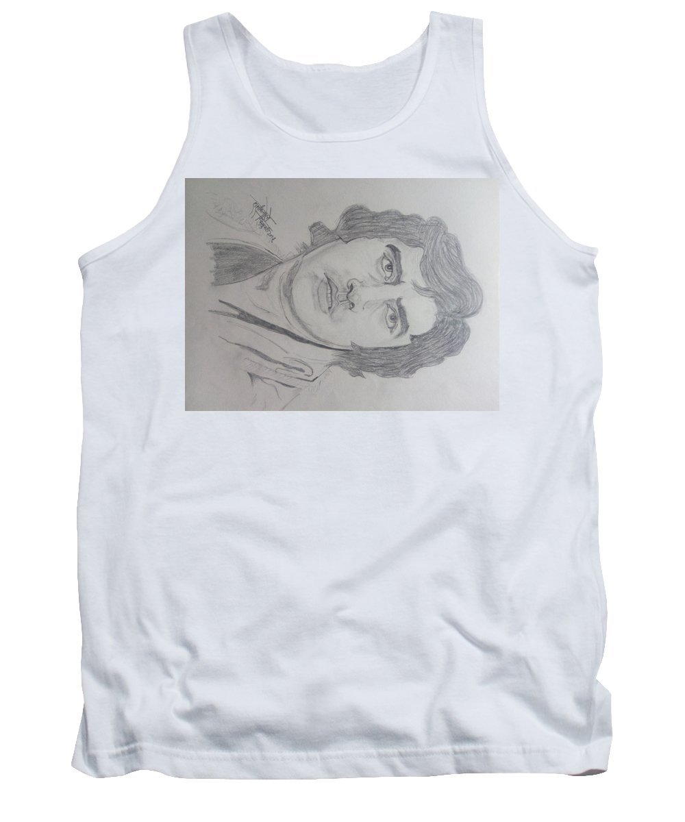 Amitabh Bacchan Tank Top featuring the drawing Amitabh Bacchan International Actor by Shashank Morje