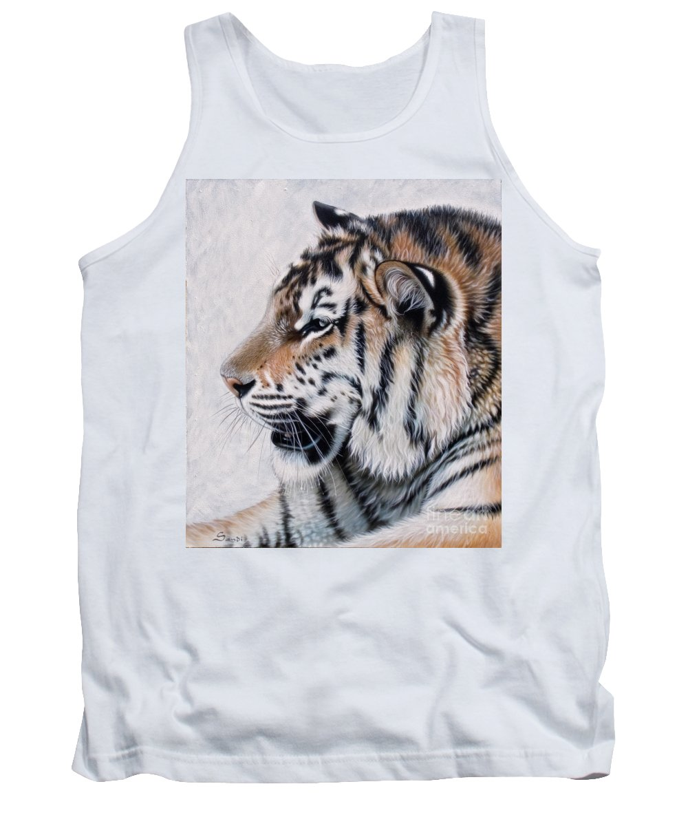 Acrylic Tank Top featuring the painting Amur by Sandi Baker
