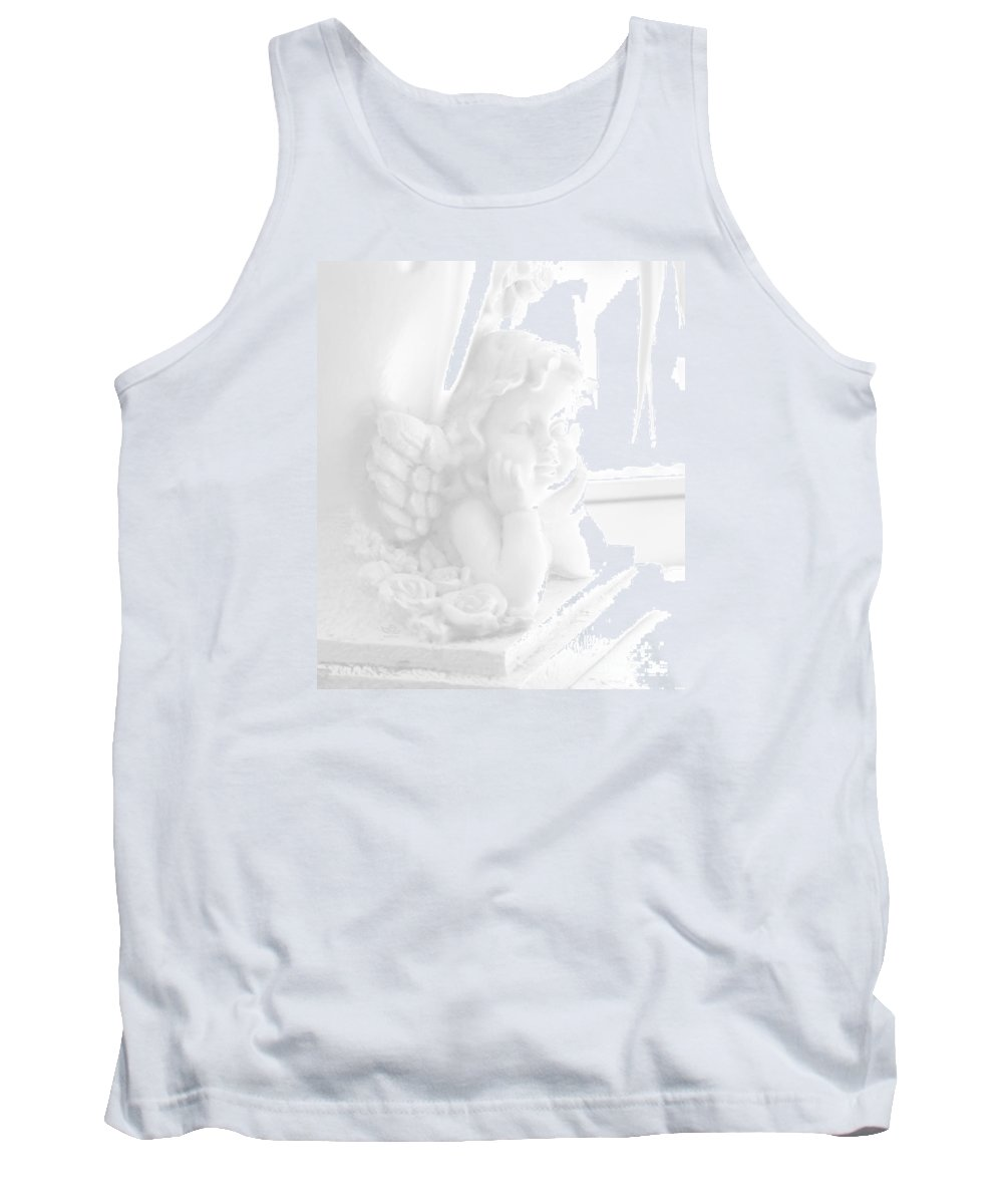 Angel Tank Top featuring the photograph An Angel Awaits by Beauty For God
