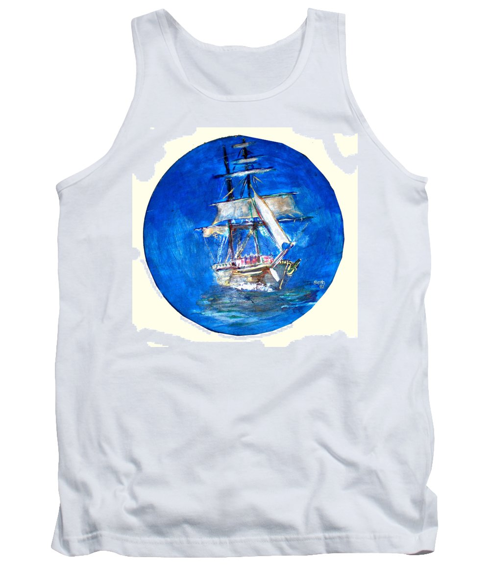 Acrylic On Wood Tank Top featuring the painting Ancient Vessel by Seth Weaver