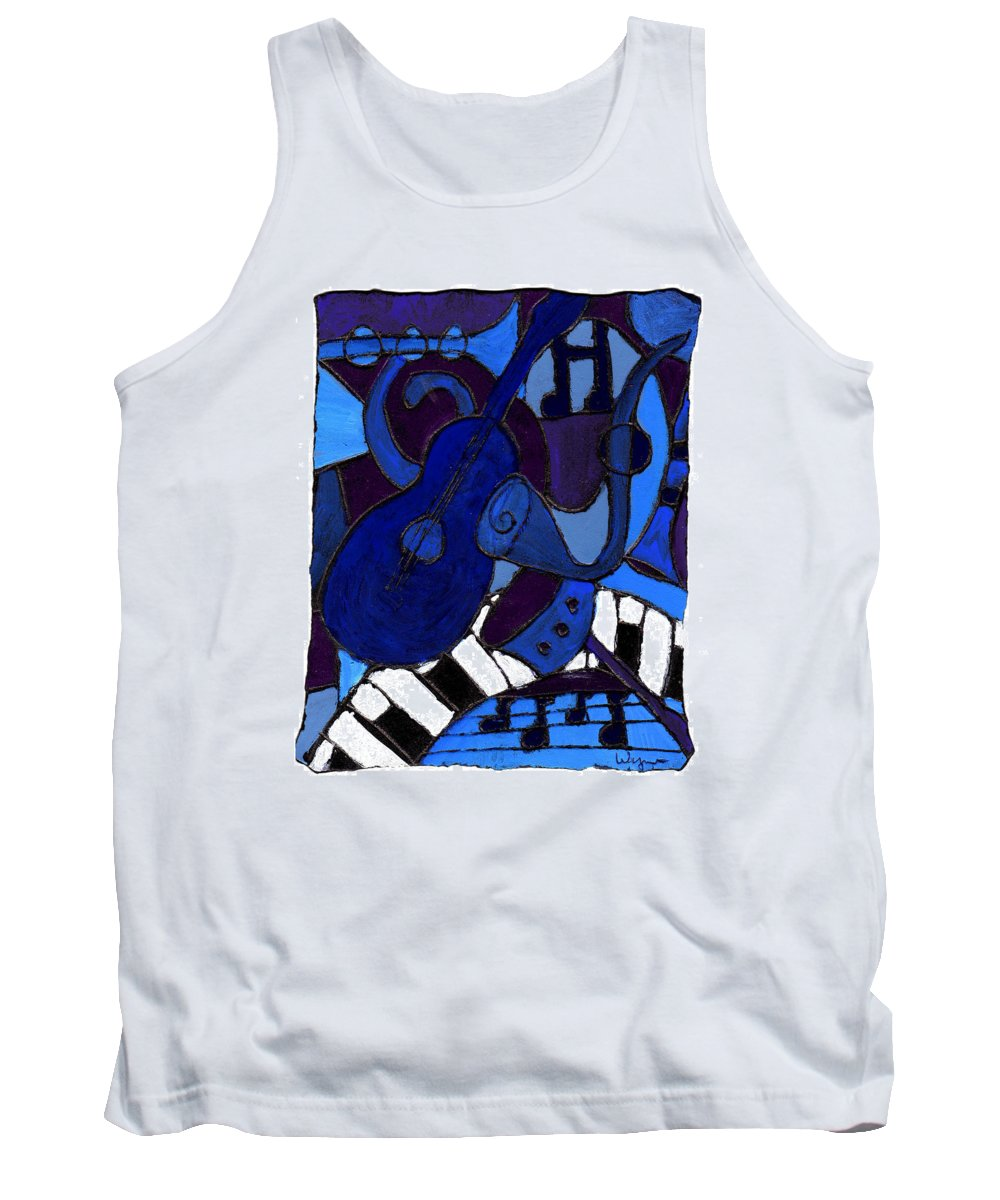 Blues Tank Top featuring the painting and All that Jazz one by Wayne Potrafka