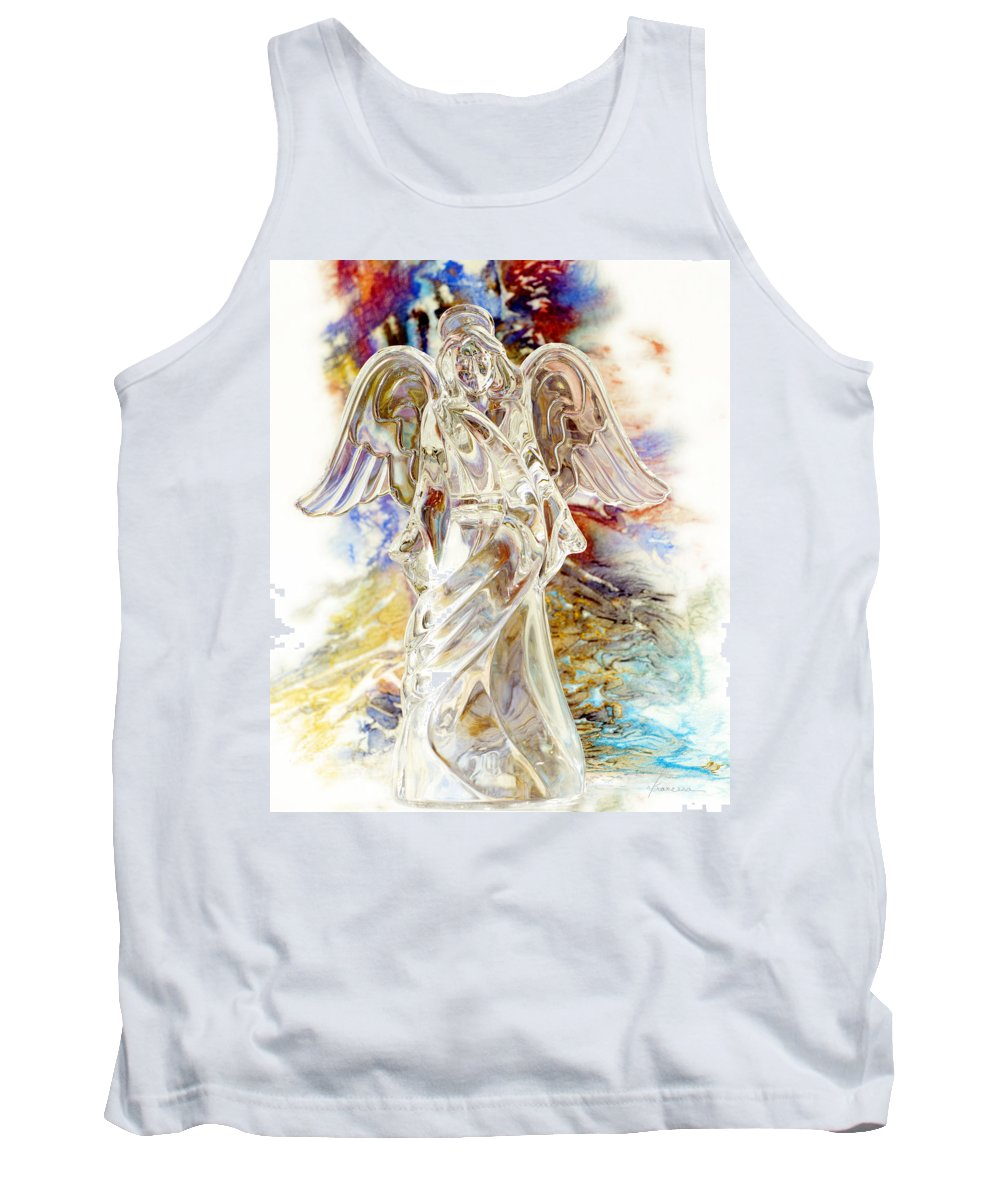 Angel Tank Top featuring the photograph Angel At The Cross by Francesa Miller