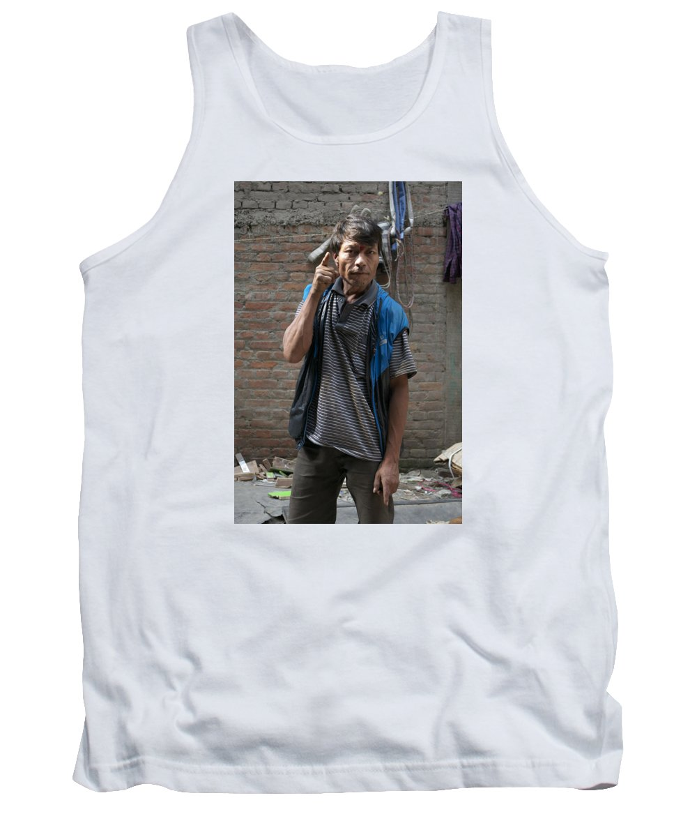 Drunk Tank Top featuring the photograph Angry Man Part I by Eline Van Nes