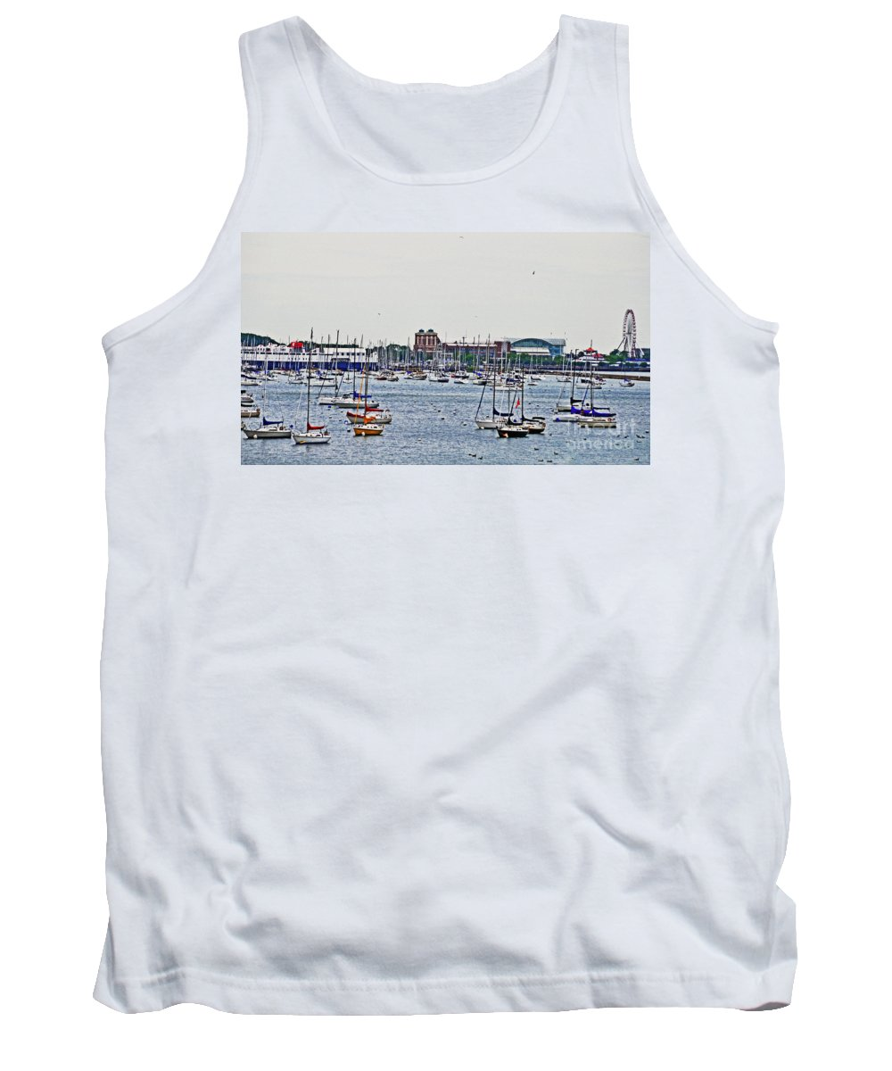 Boats Tank Top featuring the photograph Another Harbor View by Lydia Holly