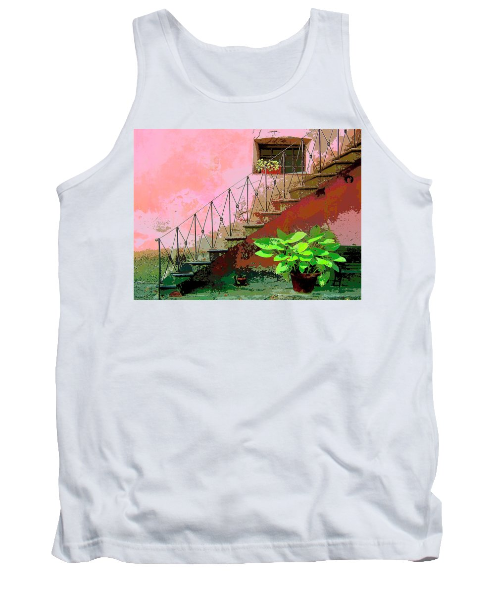 Anticipation Tank Top featuring the mixed media Anticipation by Dominic Piperata