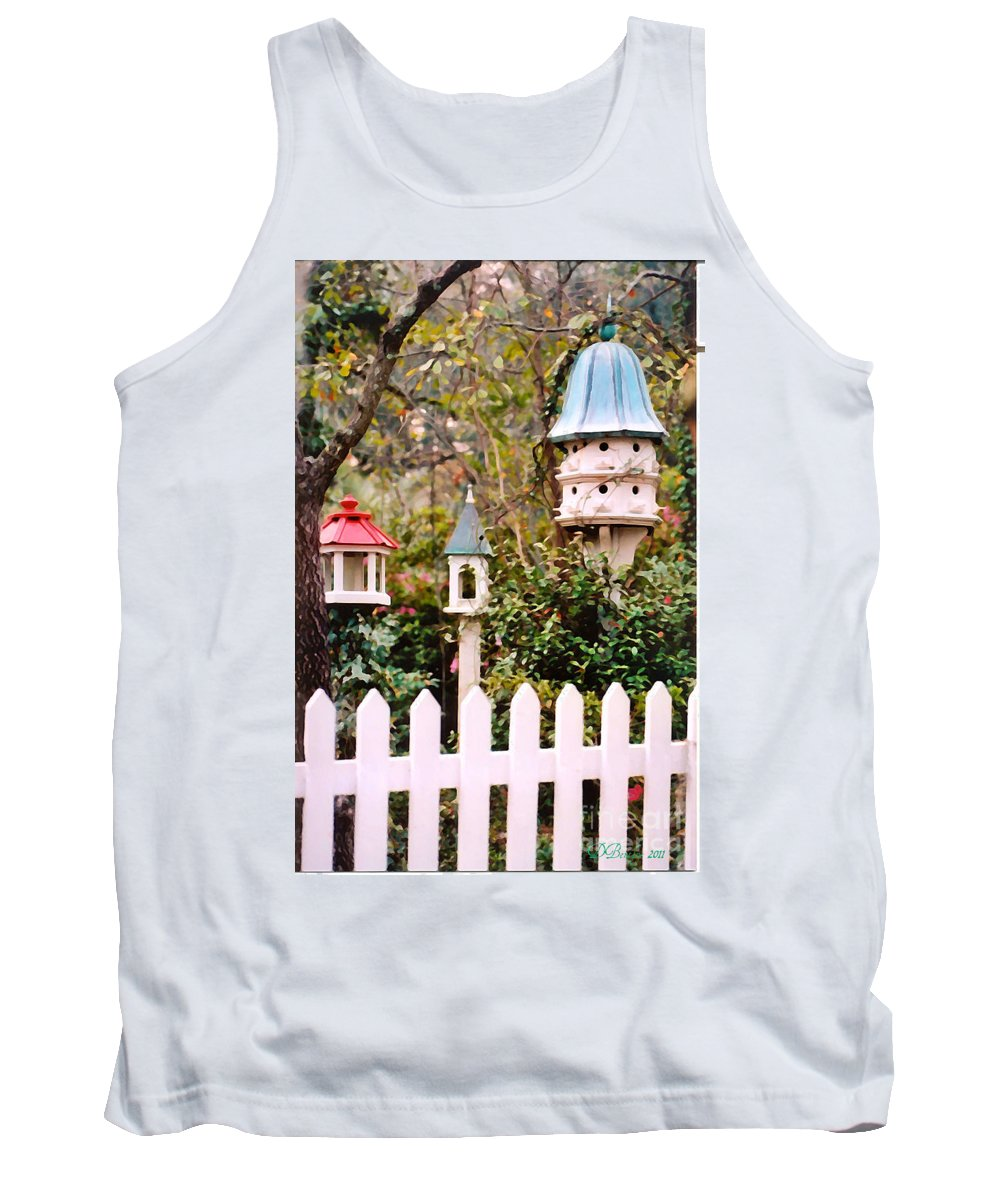 Birdhouses Tank Top featuring the photograph Apartment Living by Donna Bentley