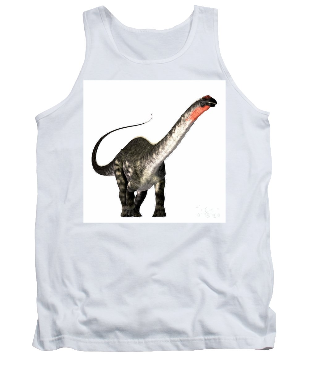 Apatosaurus Tank Top featuring the painting Apatosaurus Profile by Corey Ford