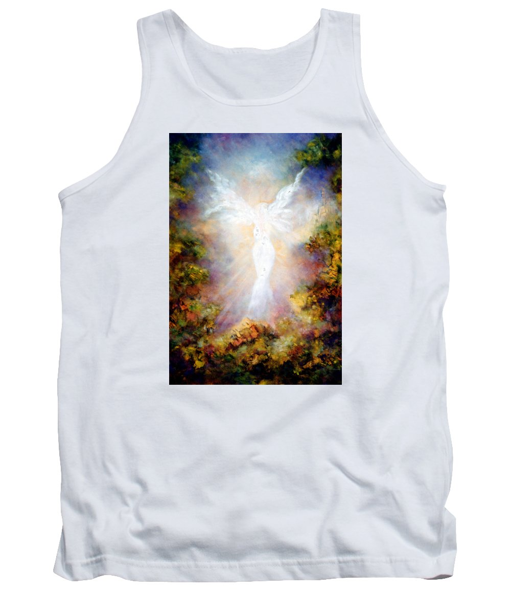 Angel Tank Top featuring the painting Apparition II by Marina Petro