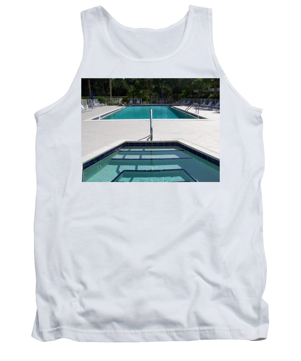Pool Tank Top featuring the photograph Aqua by Laurie Paci