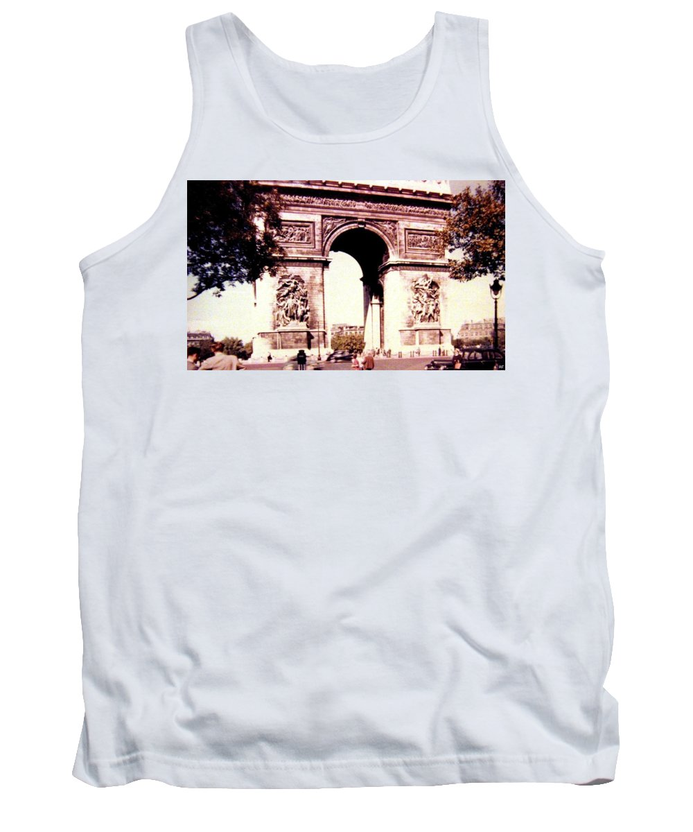 1955 Tank Top featuring the photograph Arc De Triomphe 1955 by Will Borden