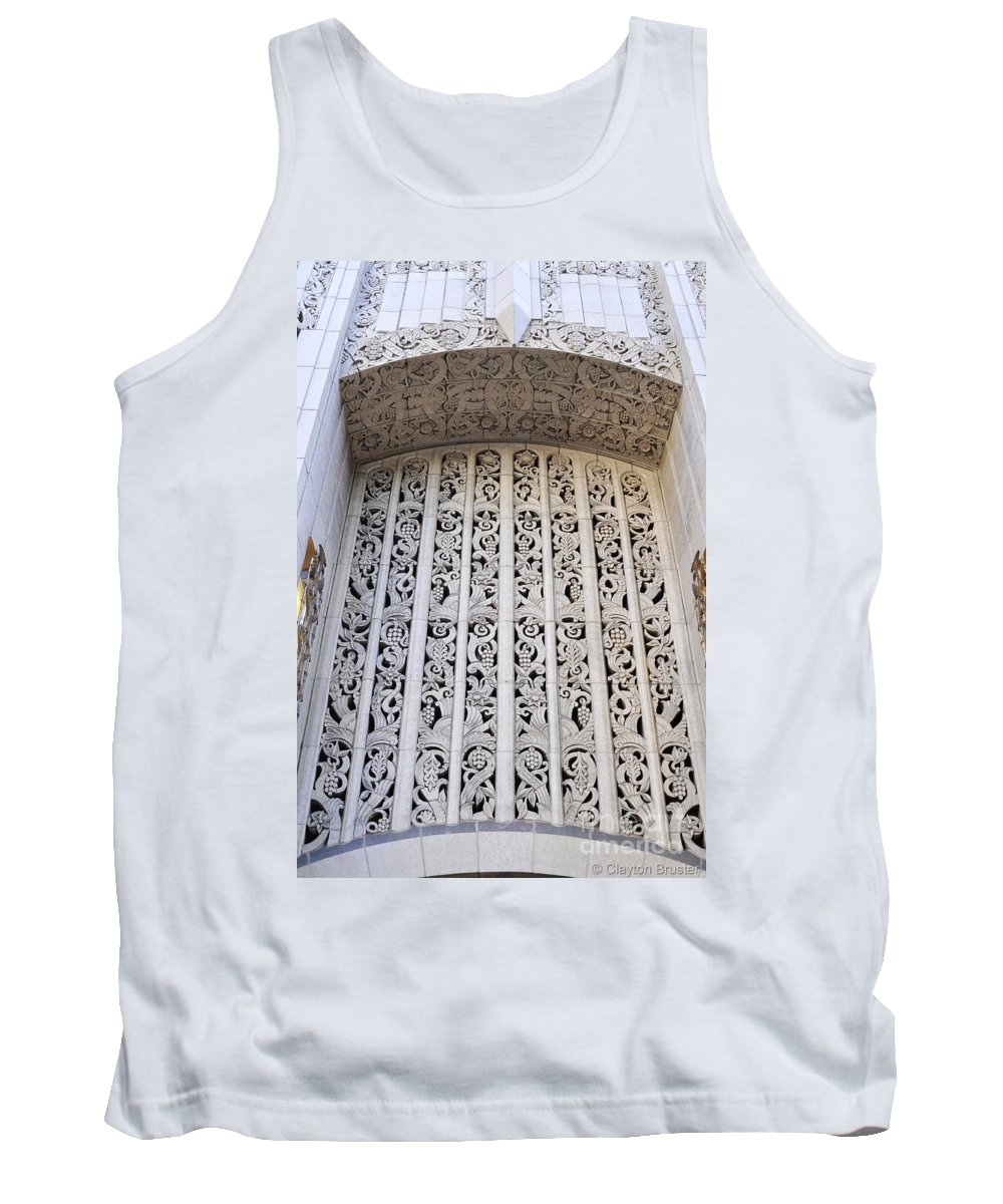Clay Tank Top featuring the photograph Architecture Downtown Los Angeles by Clayton Bruster
