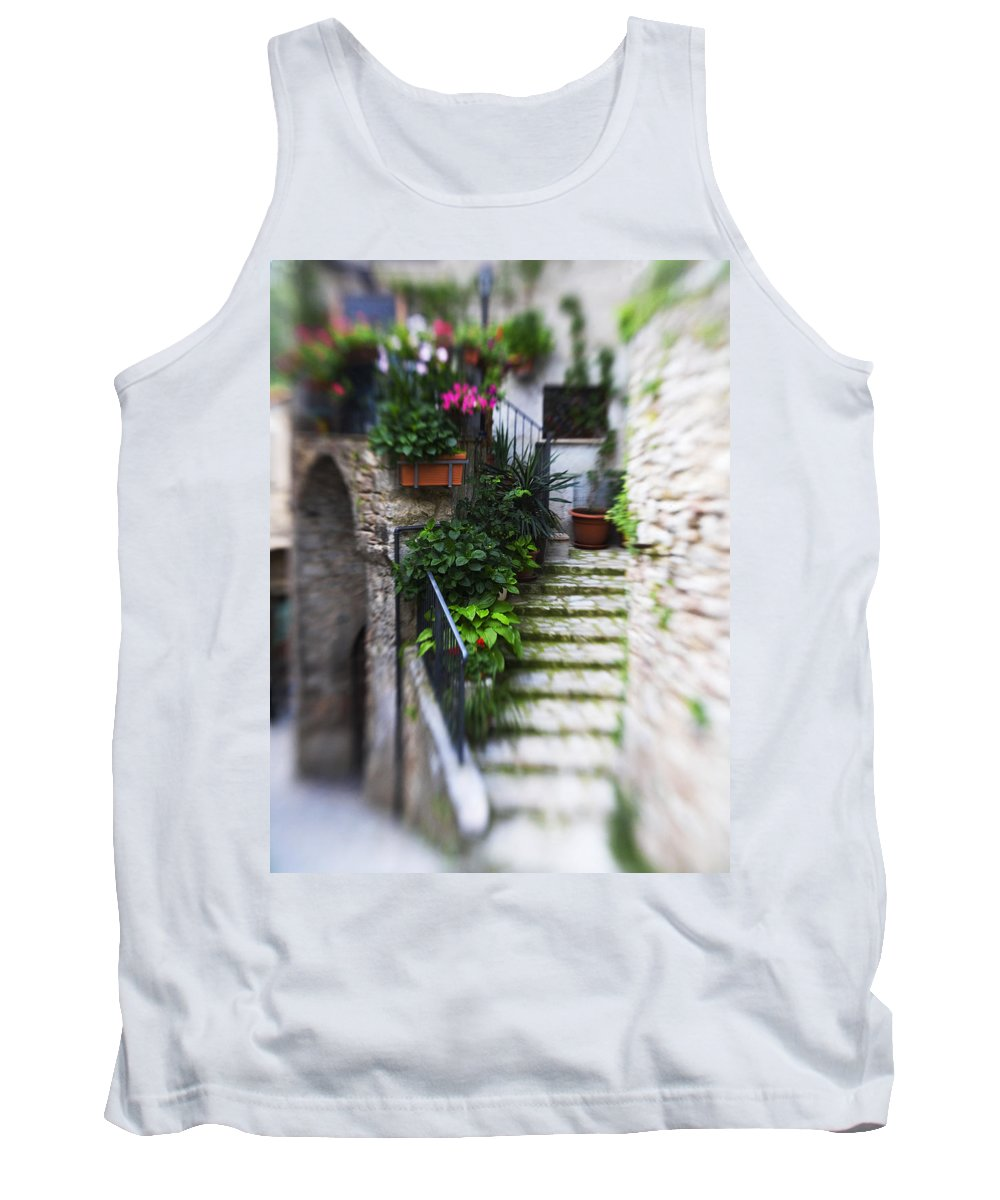 Italy Tank Top featuring the photograph Archway And Stairs by Marilyn Hunt