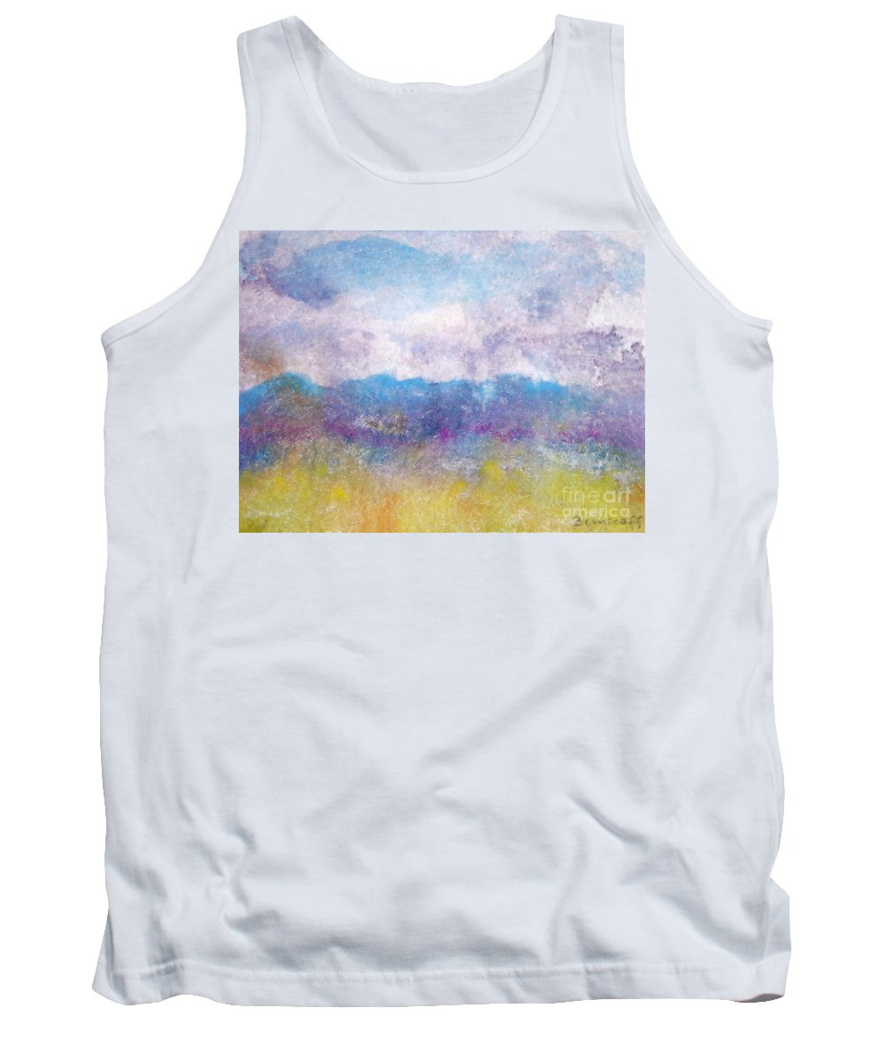 Abstract Tank Top featuring the painting Arizona Impressions by Jan Bennicoff