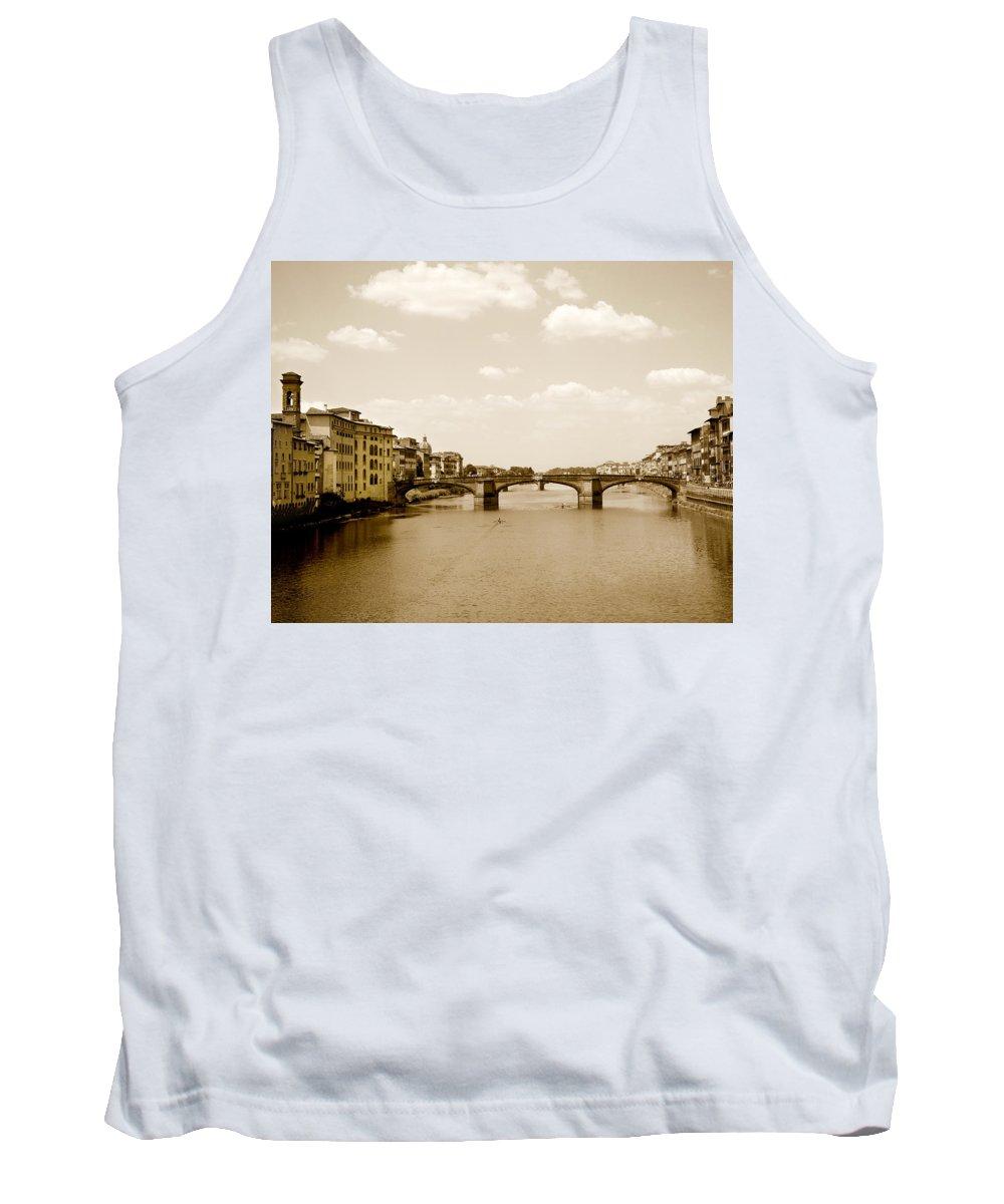 Italy Tank Top featuring the photograph Arno River Florence by Marilyn Hunt