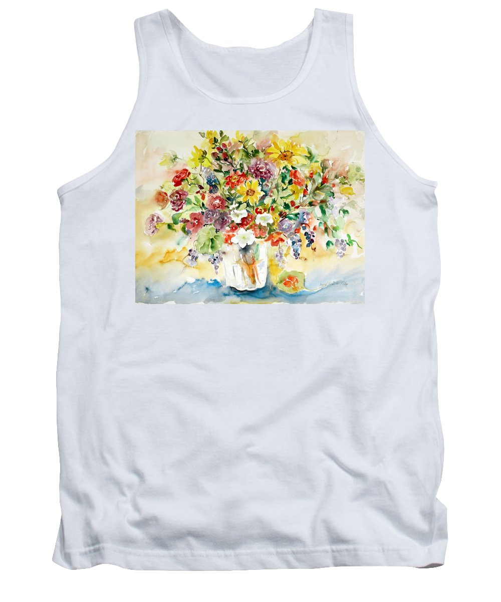 Watercolor Tank Top featuring the painting Arrangement III by Ingrid Dohm